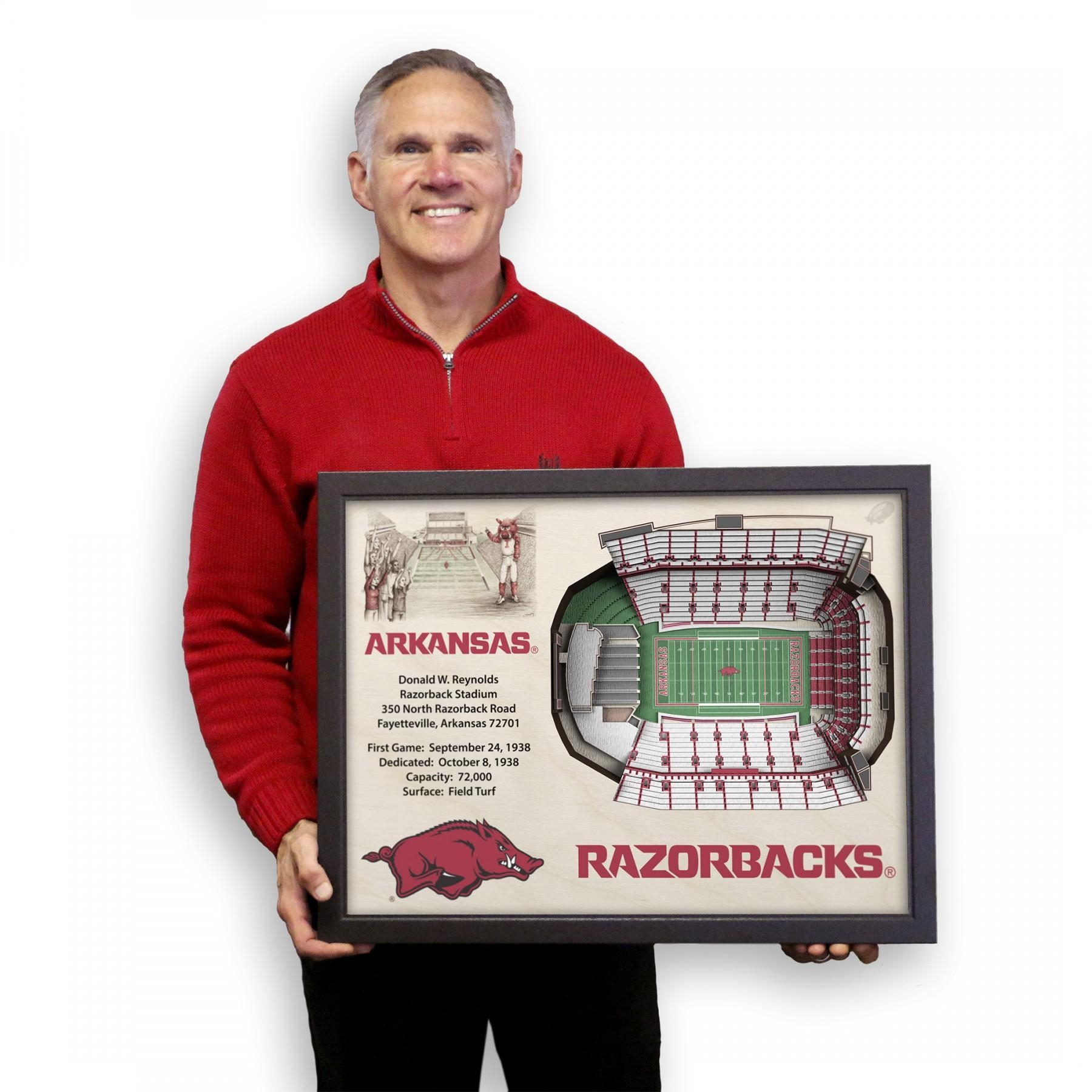 Arkansas Razorbacks Stadiumview Wall Art – Donald W (Image 6 of 20)