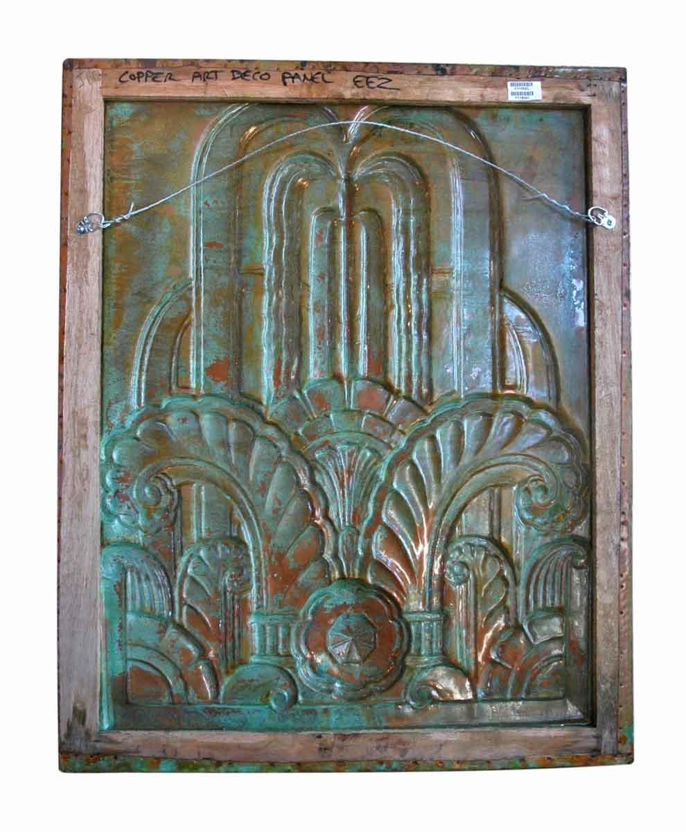 Art Deco Style Copper Panel With Patina   Olde Good Things In Art Deco Metal Wall Art (View 11 of 20)