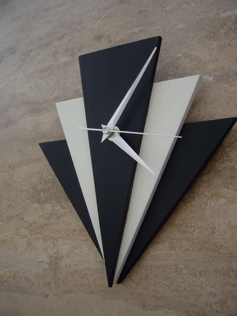 Art Deco Wall Clock Easy Metal Wall Art For Large Canvas Wall Art Pertaining To Large Art Deco Wall Clocks (Image 3 of 20)