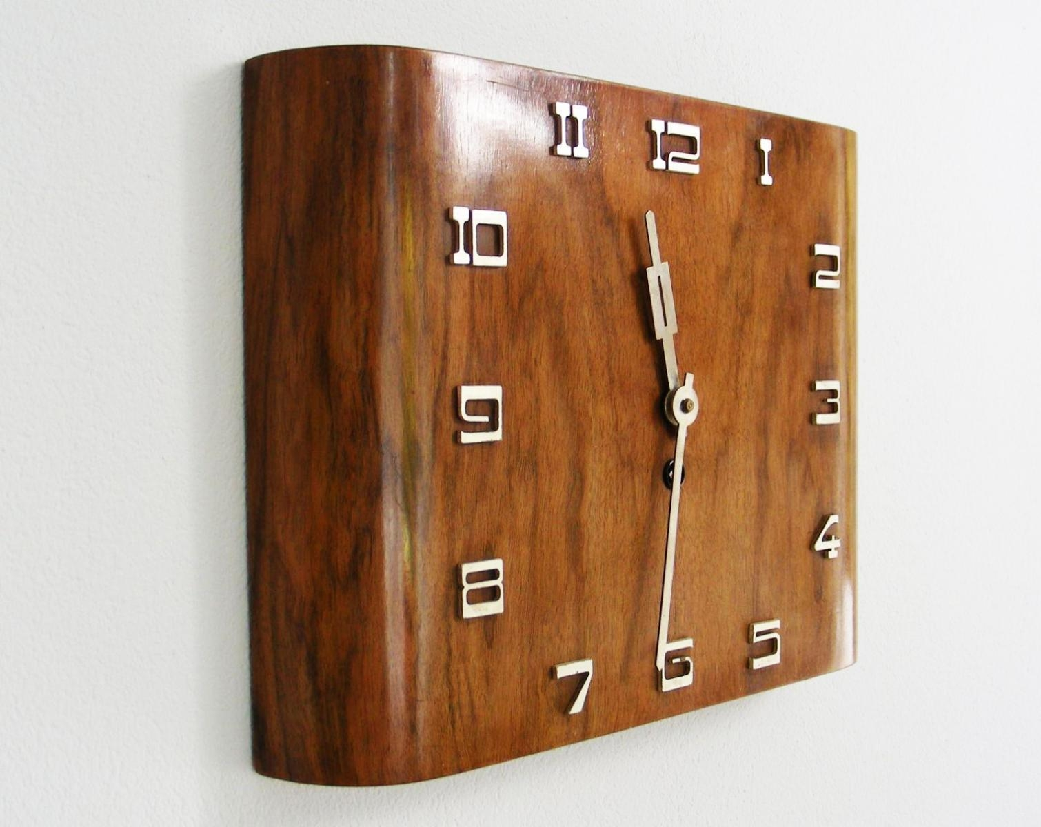 Art Deco Wall Clock | Roselawnlutheran Intended For Large Art Deco Wall  Clocks (Photo 4
