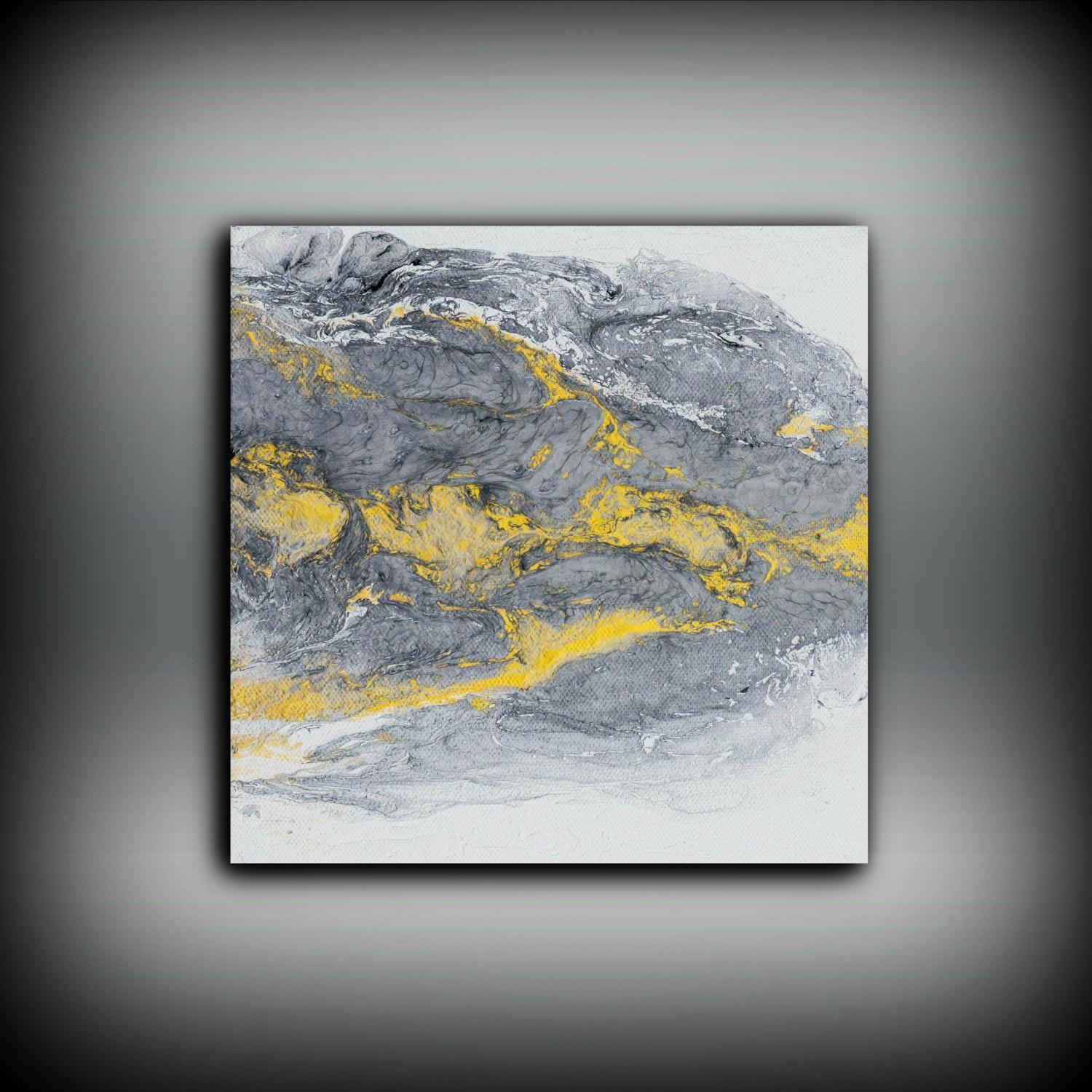 Art Painting Acrylic Paintings Abstract Small Wall Art Canvas Gold For Small Canvas Wall Art (Image 2 of 20)