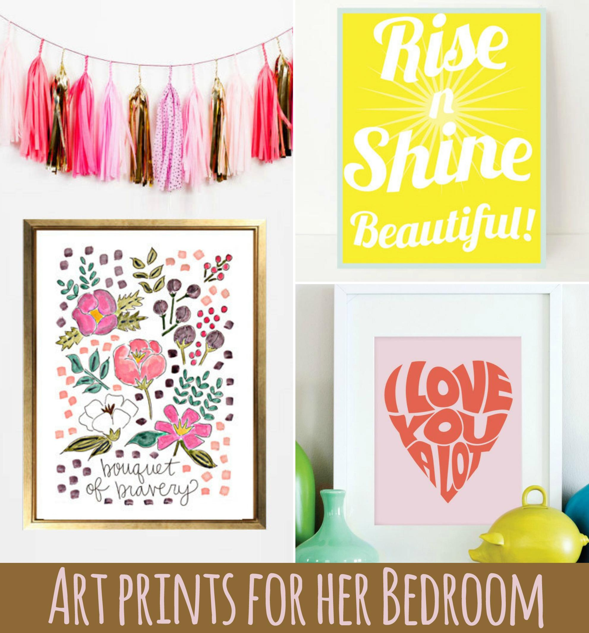 Art Prints For Her Bedroom Regarding Little Girl Wall Art (Image 1 of 20)
