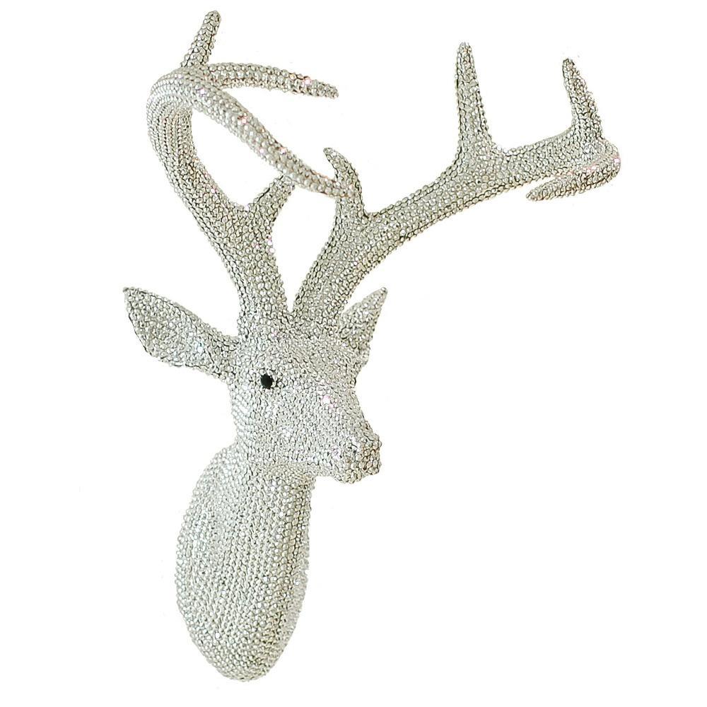 Arthouse Star Studded Stag Head Diamante Deer Mounted Wall Art 008172 In Stag Head Wall Art (Image 1 of 20)