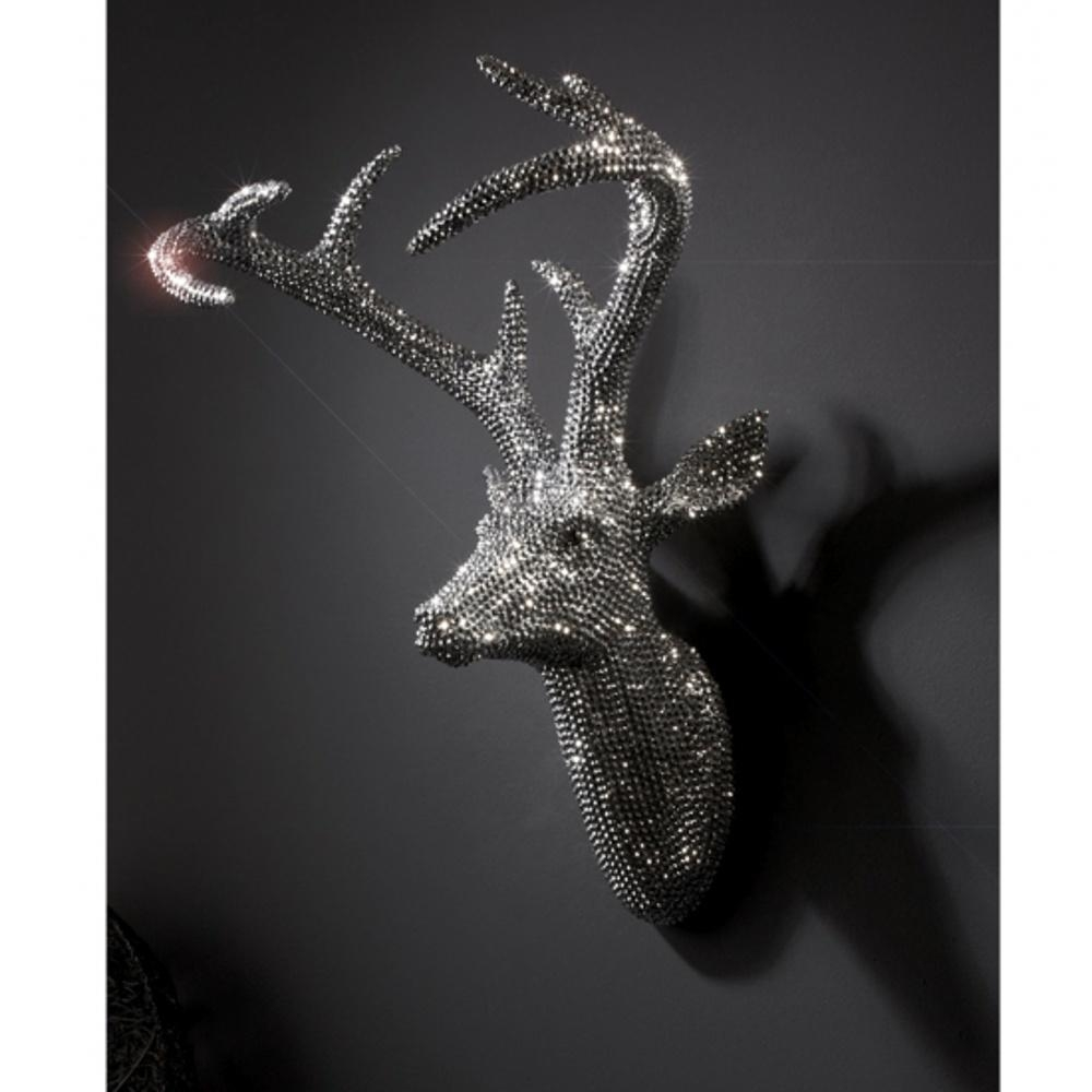 Arthouse Star Studded Stag Head Diamante Deer Mounted Wall Art 008172 Regarding Stags Head Wall Art (Image 2 of 20)