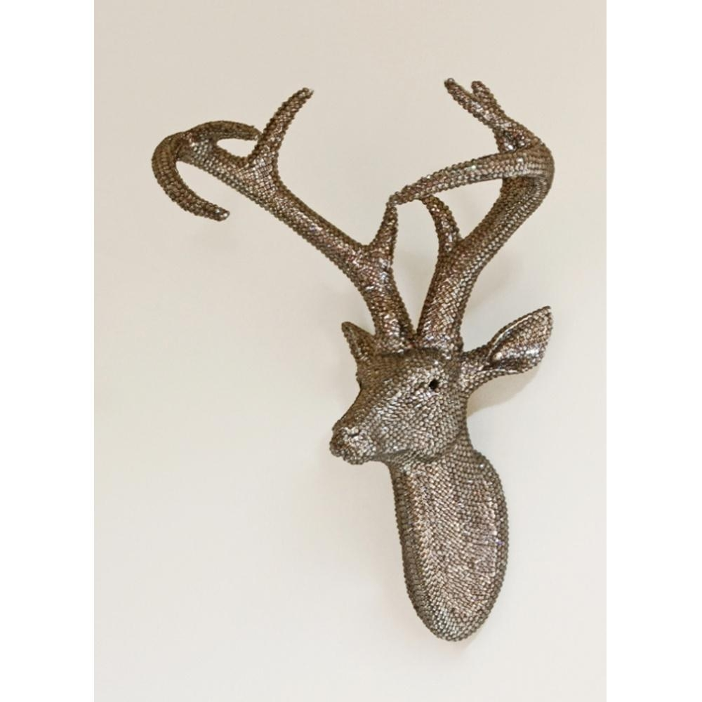 Arthouse Star Studded Stag Head Diamante Deer Mounted Wall Art 008217 With Stag Wall Art (Image 4 of 20)