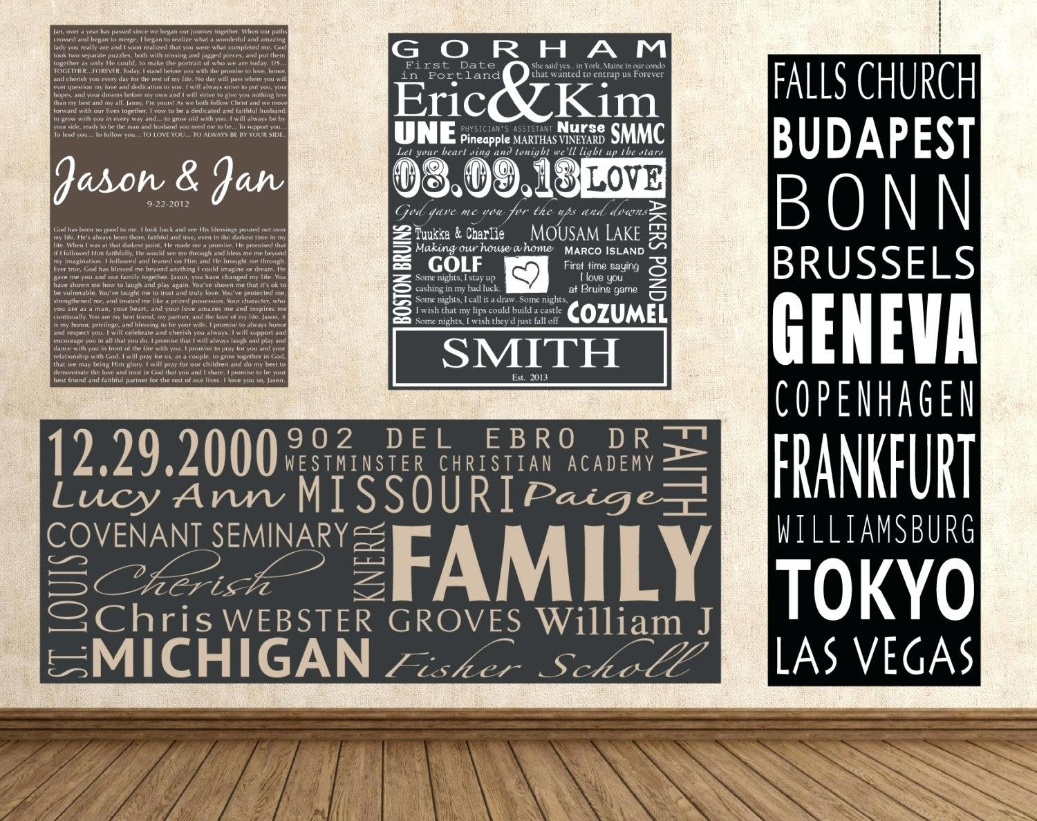 Articles With Custom Canvas Prints With Words Tag: Personalized Inside Custom Canvas Art With Words (Image 2 of 20)