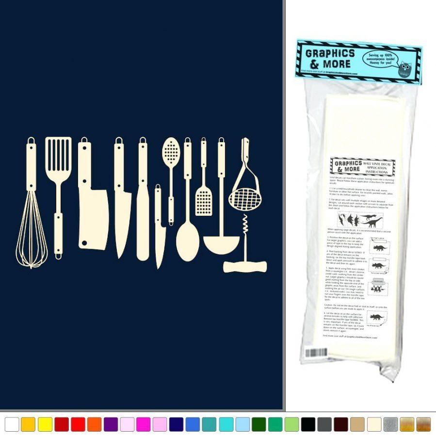 Articles With Decorative Vinyl Wall Art Sticker Tag: Decorative With Regard To Large Utensil Wall Art (Image 1 of 20)