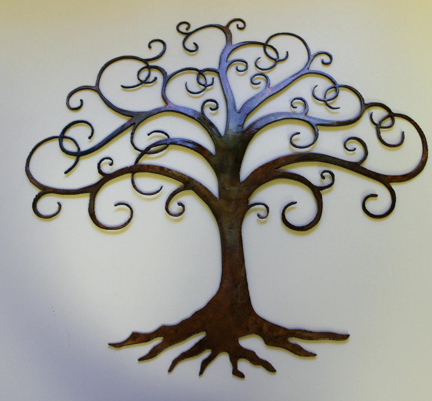 Articles With Large Metal Tree Wall Decor Tag: Metal Tree Wall Intended For Kohls Metal Tree Wall Art (Image 4 of 20)