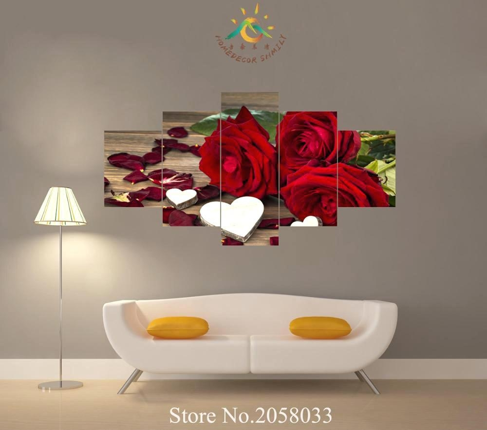 Articles With Large Red Rose Wall Art Tag: Rose Wall Art (View 8 of 20)