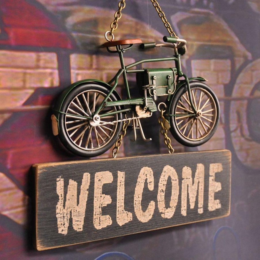 Articles With Metal Dirt Bike Wall Art Tag: Metal Bicycle Wall Art Intended For Metal Bicycle Wall Art (Image 3 of 20)