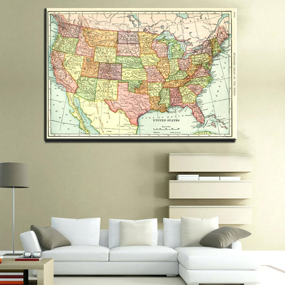Articles With United States Map Wall Art Tag: United States Wall Art (View 14 of 21)