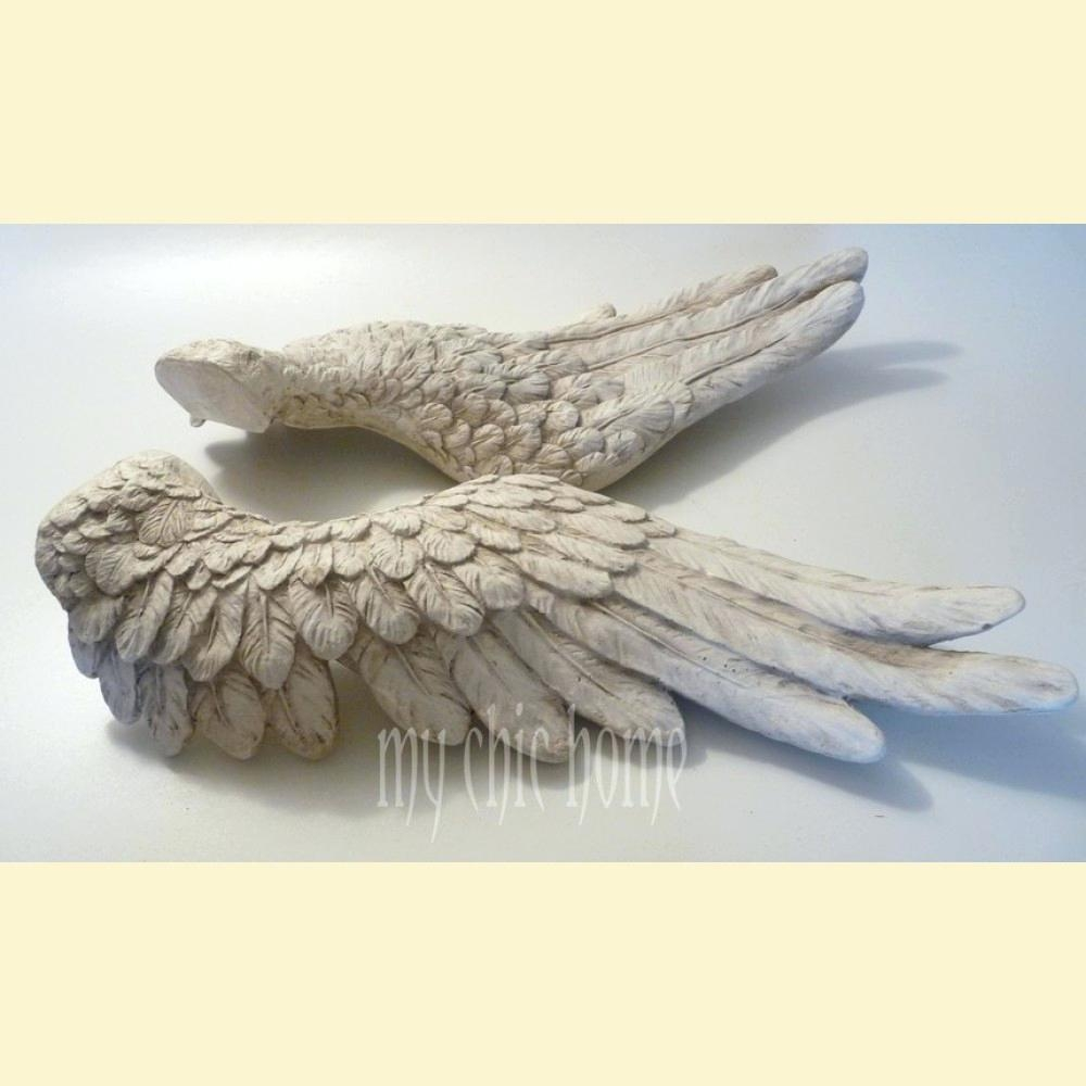 Articles With Wall Mounted Mail Organizer Amazon Tag: Wall Hanging In Angel Wings Sculpture Plaque Wall Art (Image 12 of 20)