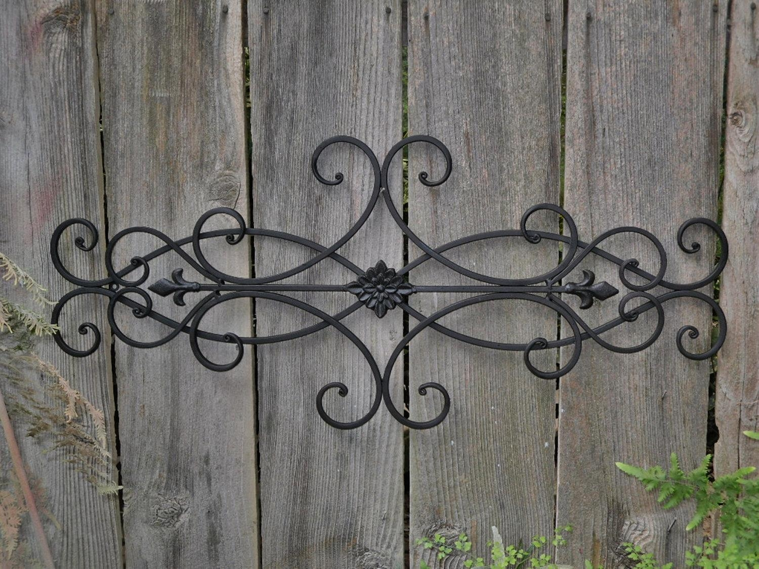 Featured Image of Wrought Iron Garden Wall Art