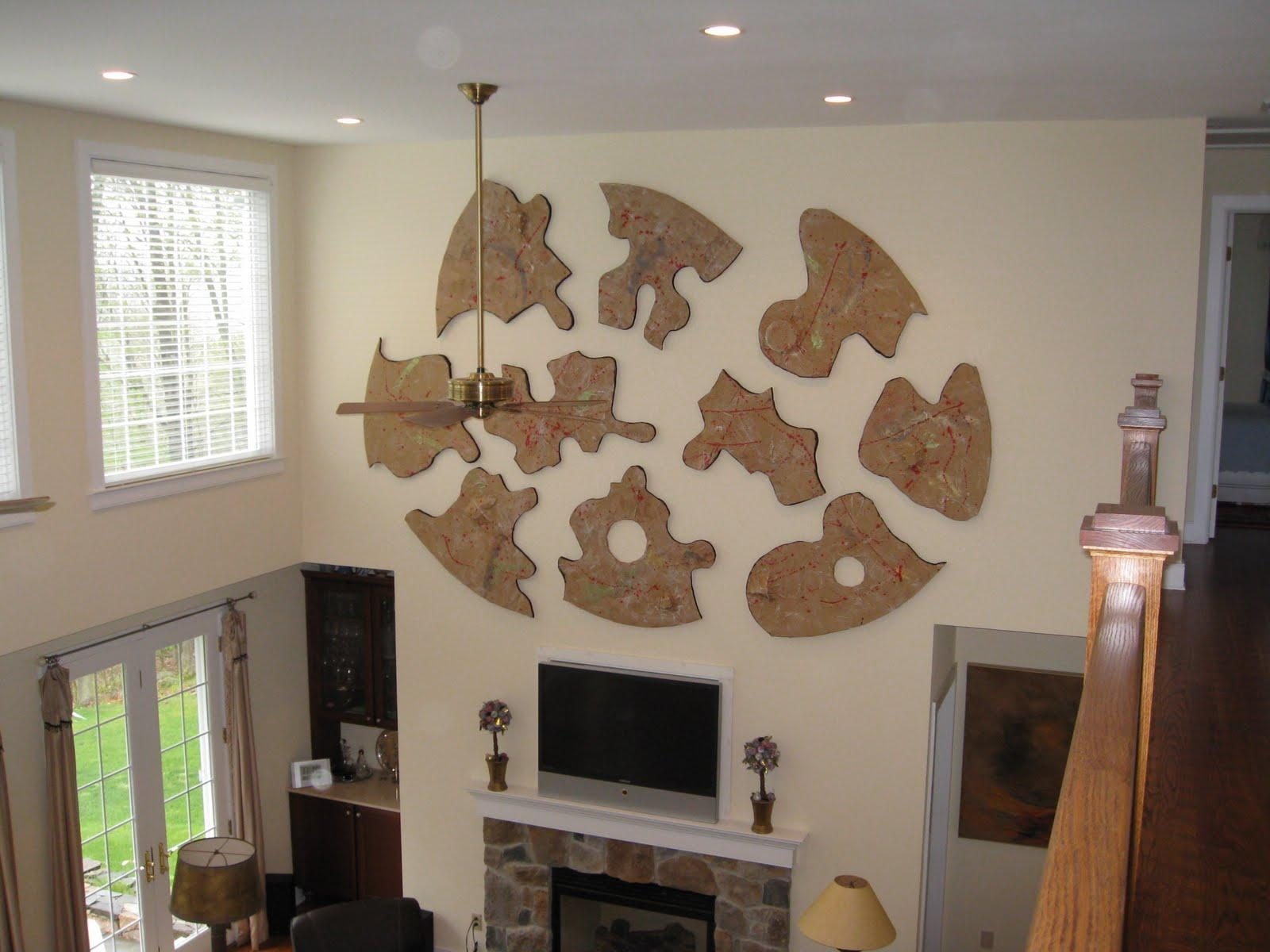 Astounding Pieces Of Puzzle Large Wall Art Feat Tv Fireplace Also With Regard To Fireplace Wall Art (View 9 of 20)
