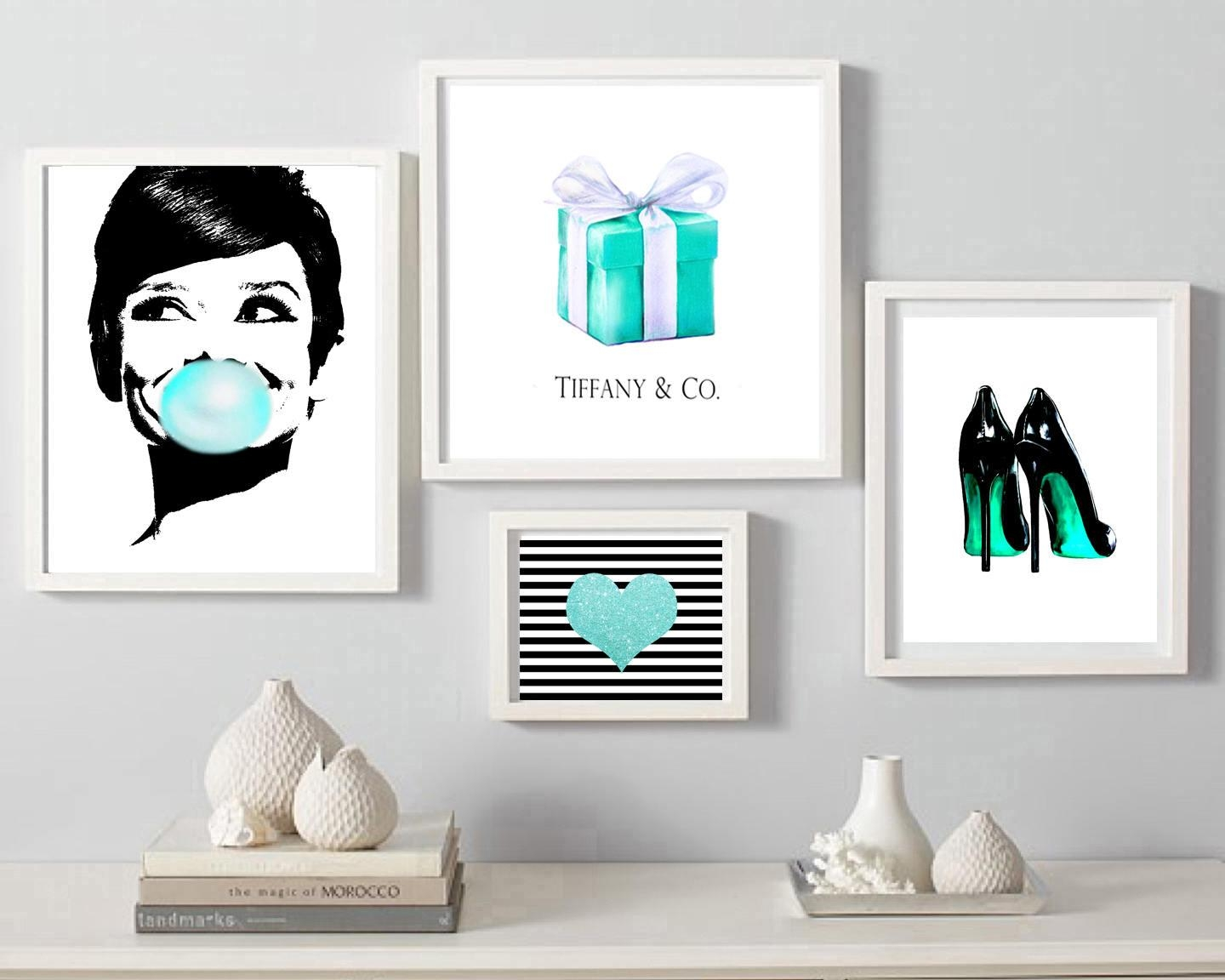 Audrey Hepburn Bubble Gum Print Breakfast At Tiffany's For Tiffany And Co Wall Art (View 2 of 20)