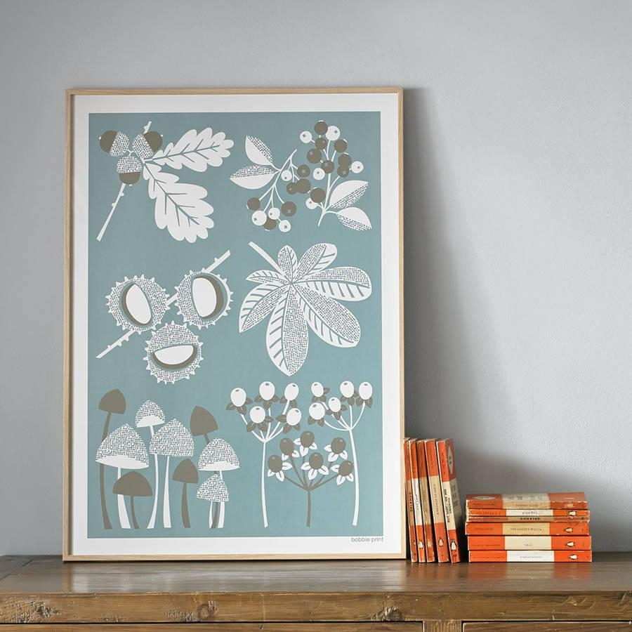 Autumn Seasonal Screen Printed Wall Artbobbie Print Throughout Seasonal Wall Art (Image 4 of 20)