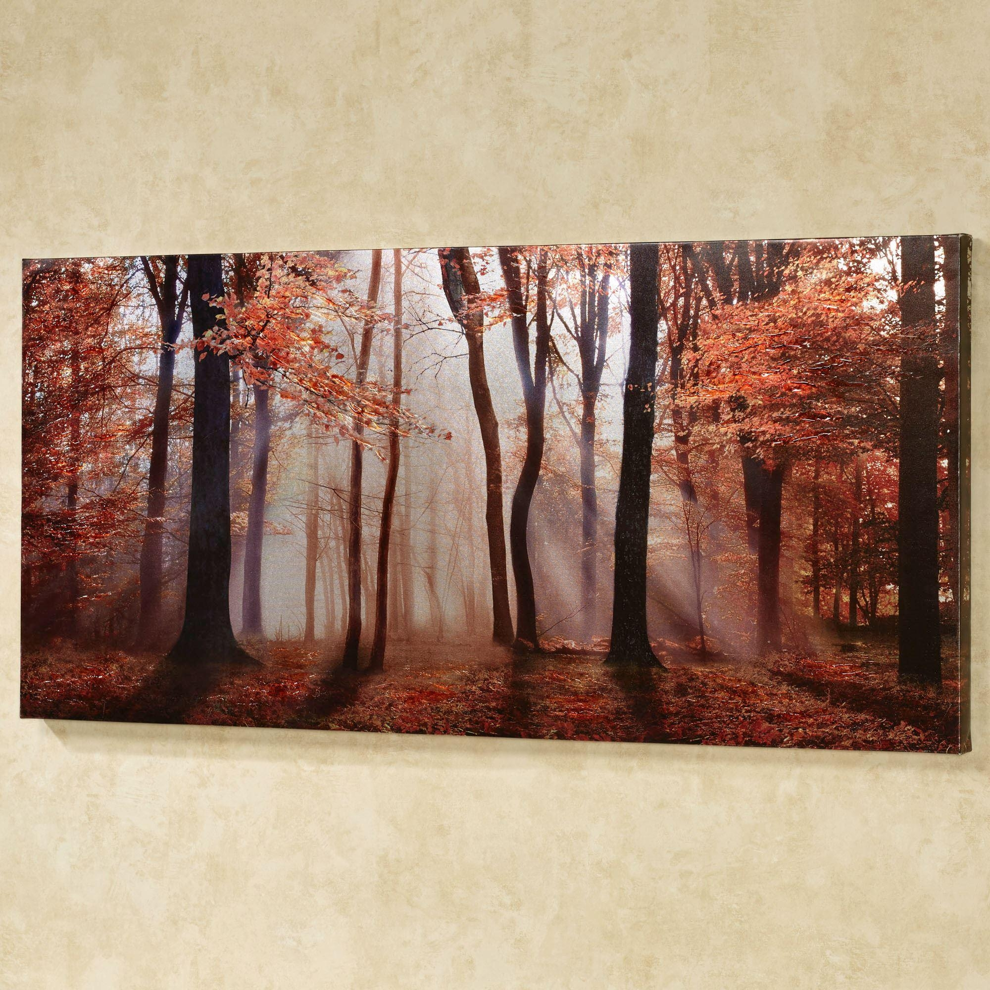 Autumns Allure Giclee Canvas Wall Art Throughout Multi Canvas Wall Art (View 2 of 9)