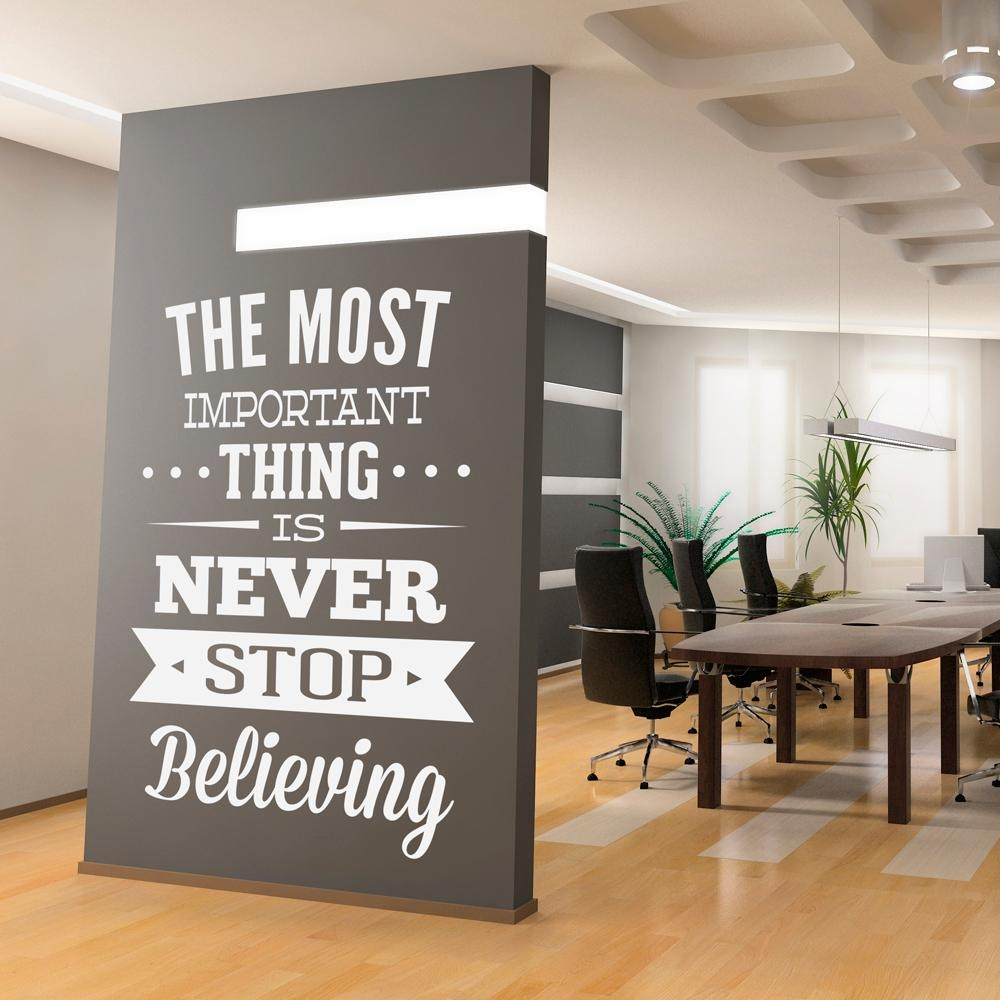 Awesome 40+ Office Wall Decal Inspiration Design Of Best 25+ Intended For Inspirational Wall Art For Office (Image 3 of 20)