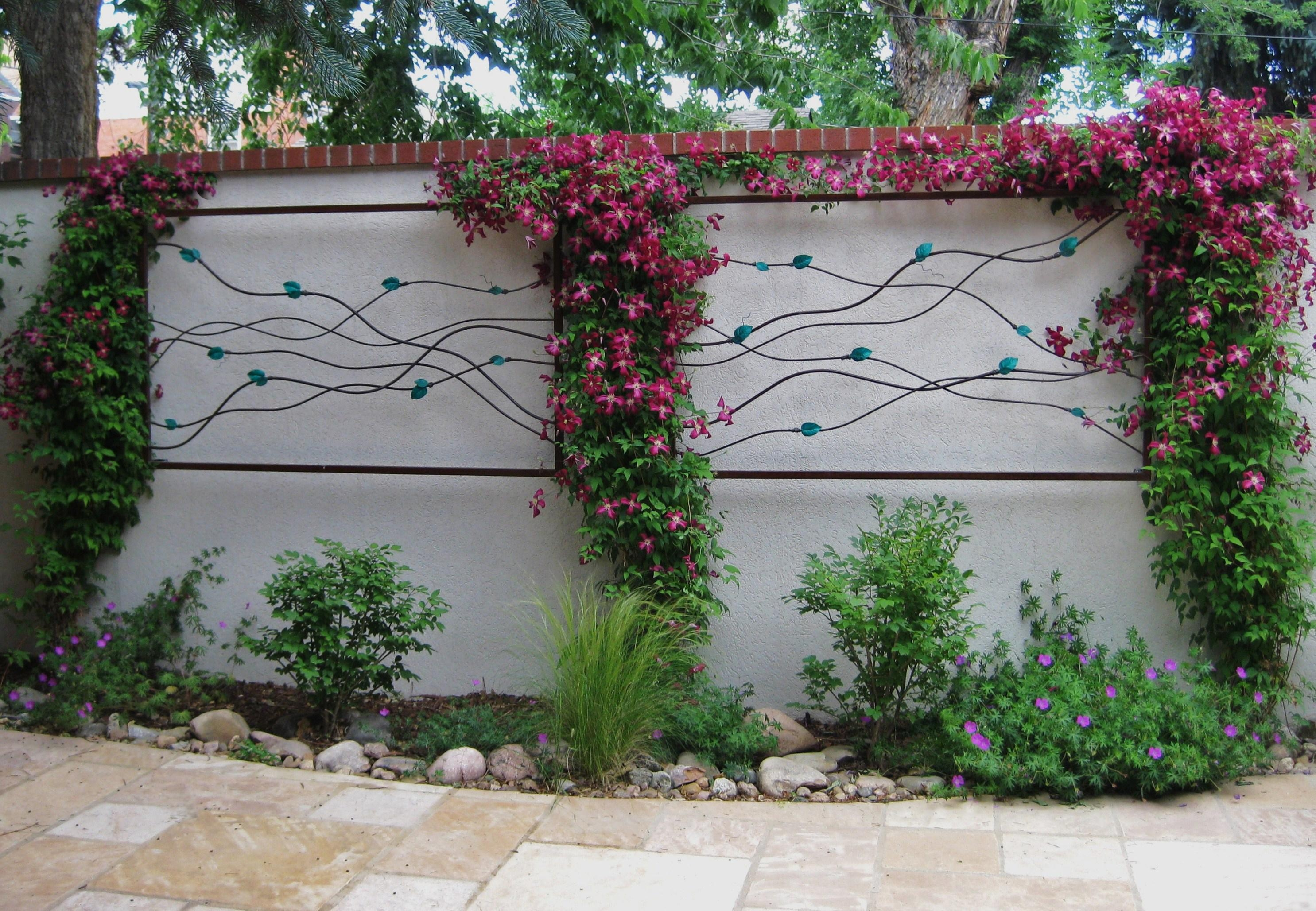 Awesome Idea Garden Wall Art Beautiful Decoration Incredible Diy Pertaining To Diy Garden Wall Art (Image 2 of 20)