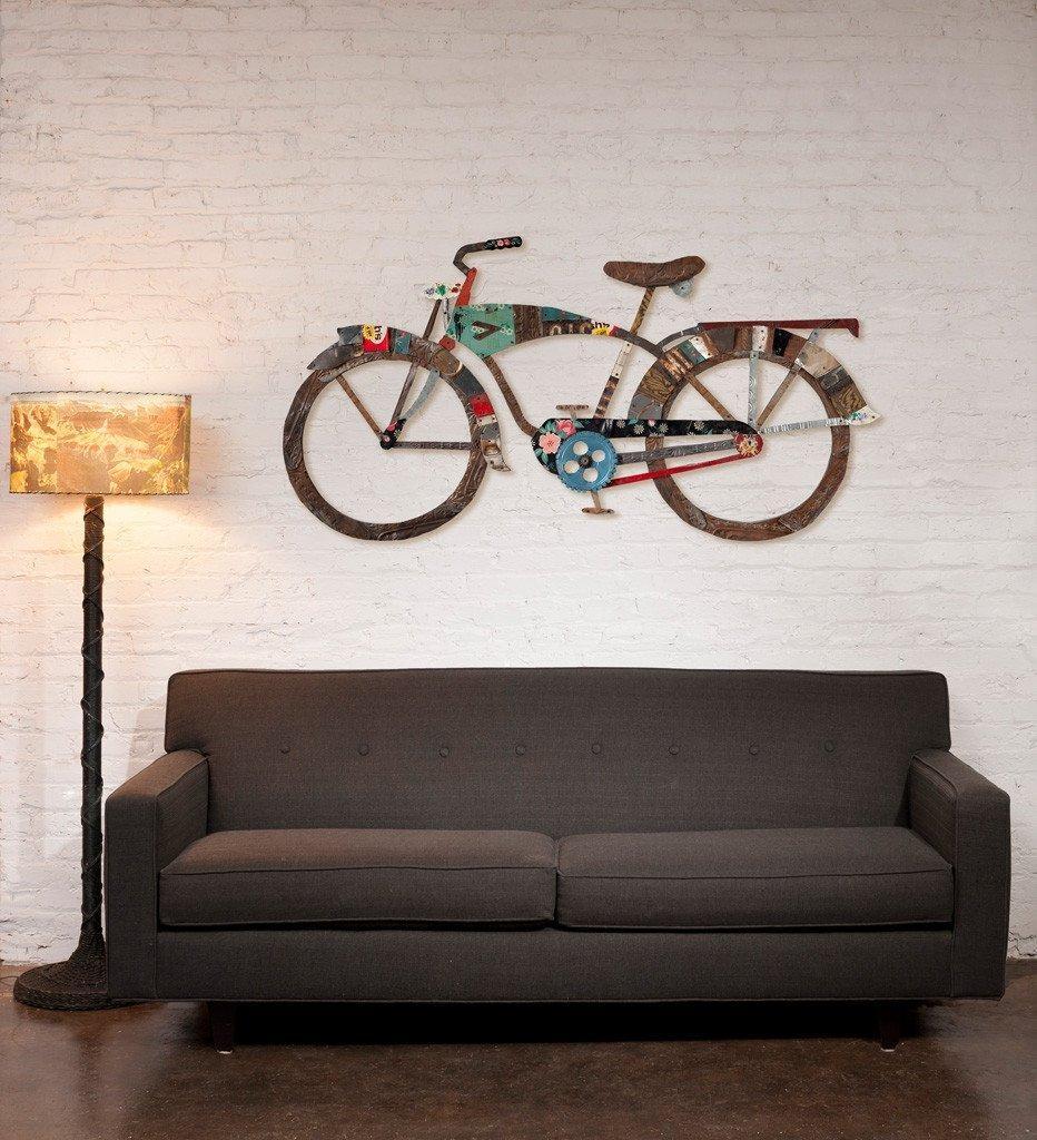 Awesome Metal Bicycle Wall Decor Metal Bicycle Wall Art Wall Decor With Regard To Bicycle Wall Art Decor (Image 2 of 20)