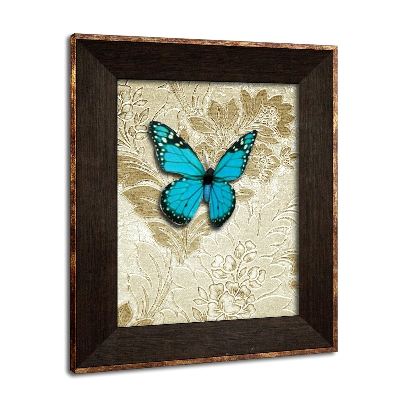 Awesome Turquoise Butterfly Wall Decor In Turquoise And Brown Wall Art (Image 5 of 20)
