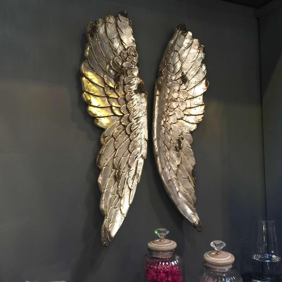 Awesome Wall Decor Angel Wings Large Silver Design Ideas Angel Regarding Angel Wings Wall Art (Image 10 of 20)