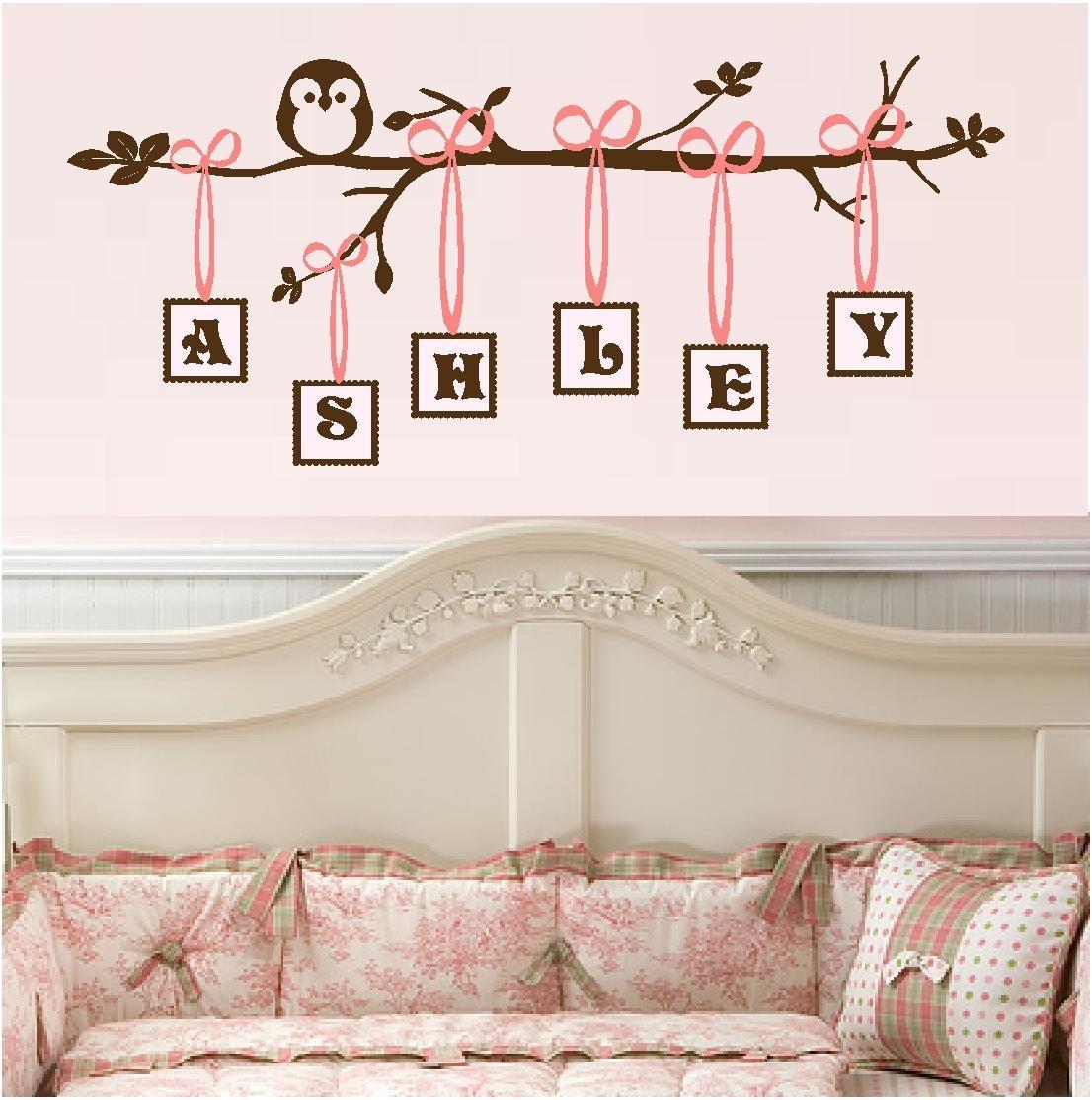 Baby Girl Quotes | Quotes For Little Girls, Vinyl Monogral, Owl Art Regarding Little Girl Wall Art (View 10 of 20)