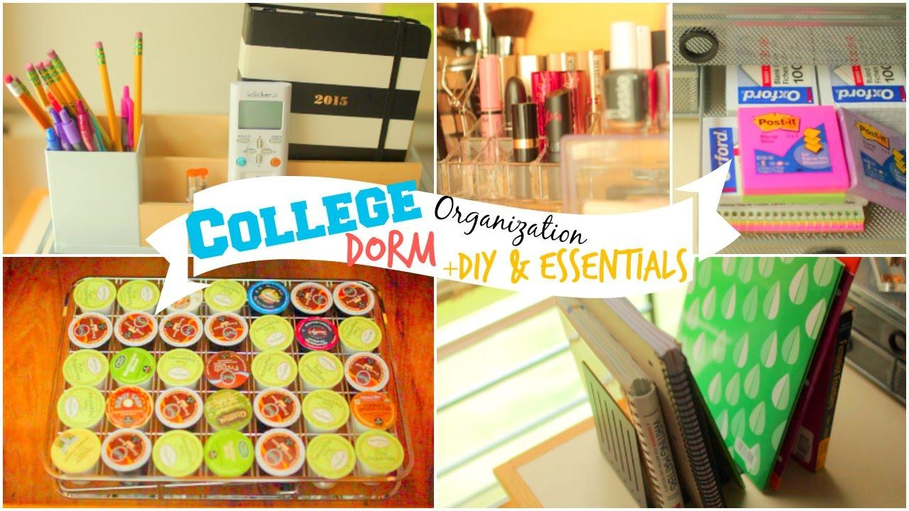 Back To School: College Dorm Room Organization Ideas + Diy With College Dorm Wall Art (View 10 of 20)