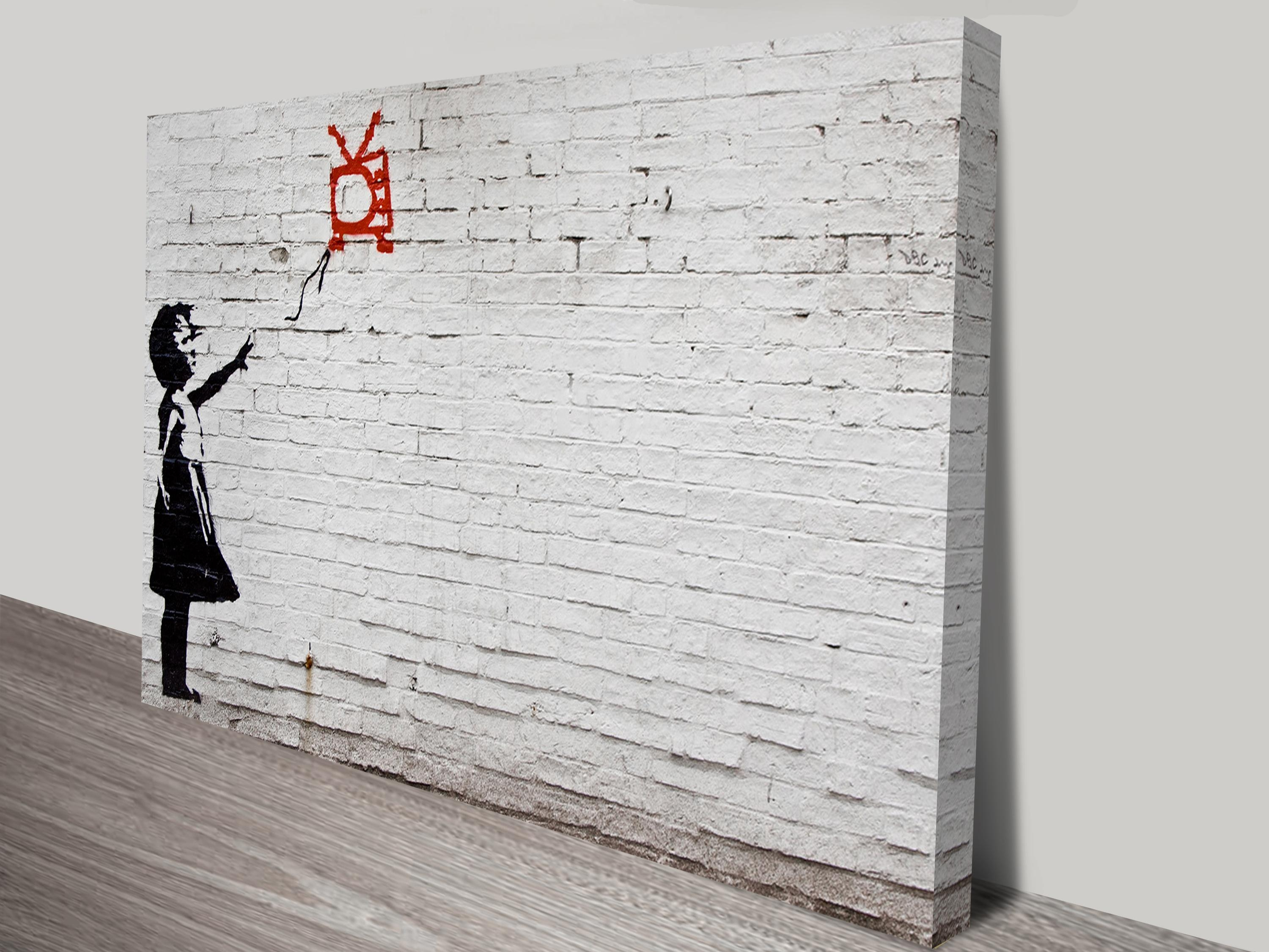 Balloon Girl On Wall Canvas Print In Banksy Wall Art Canvas (Image 2 of 20)
