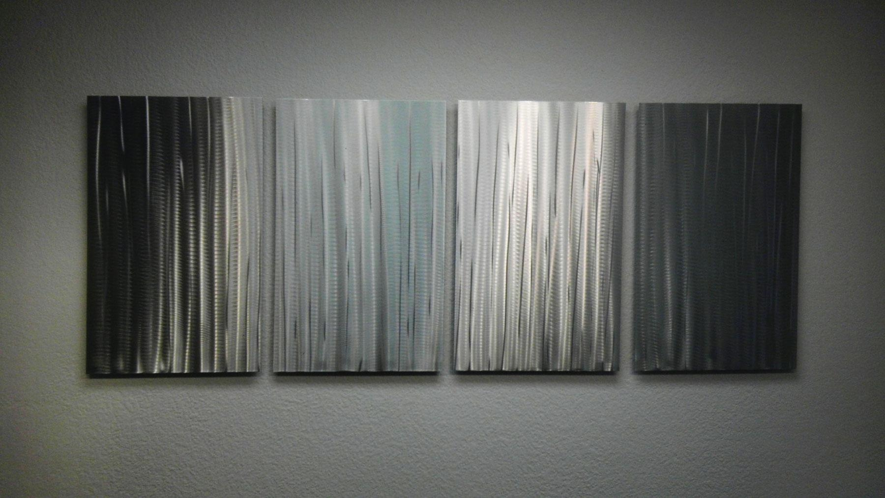 Bamboo Forest – Abstract Metal Wall Art Contemporary Modern Decor In Bamboo Metal Wall Art (Image 2 of 20)