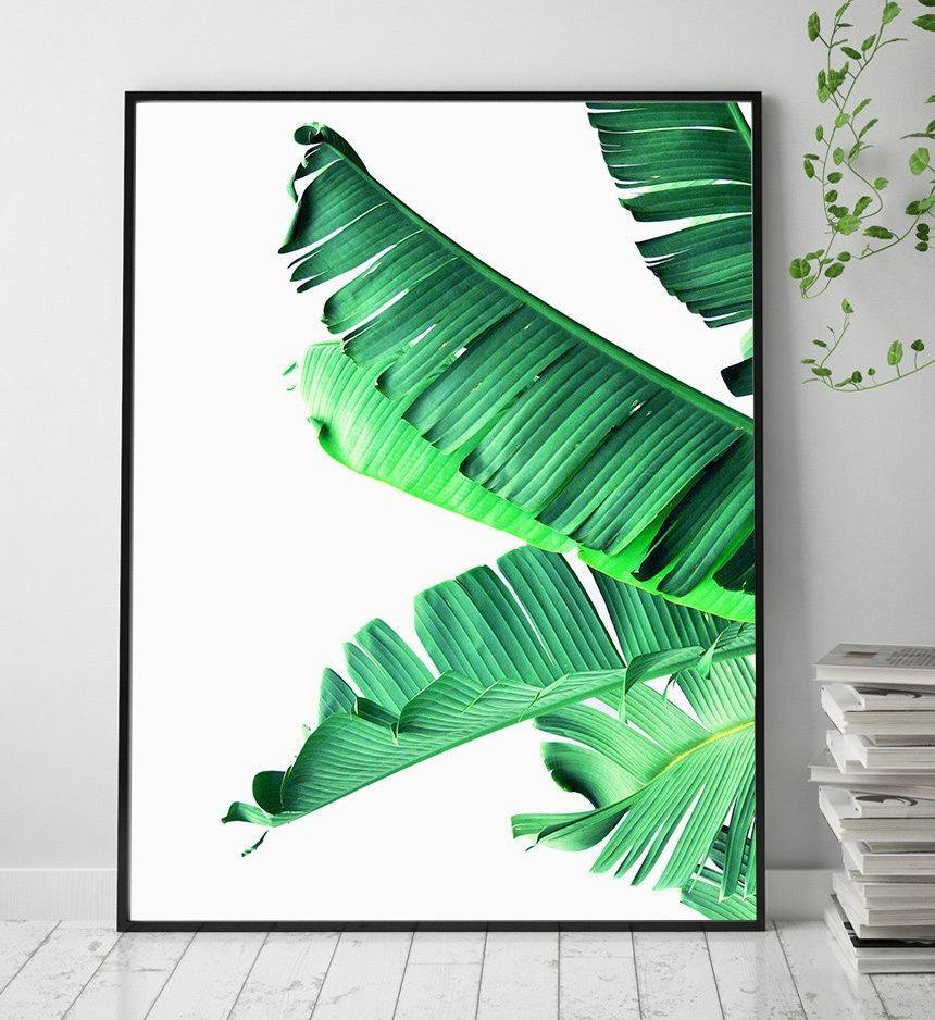 Banana Leaf Printable Art Art Prints Scandinavian Print Within Palm Leaf Wall Art (View 15 of 20)