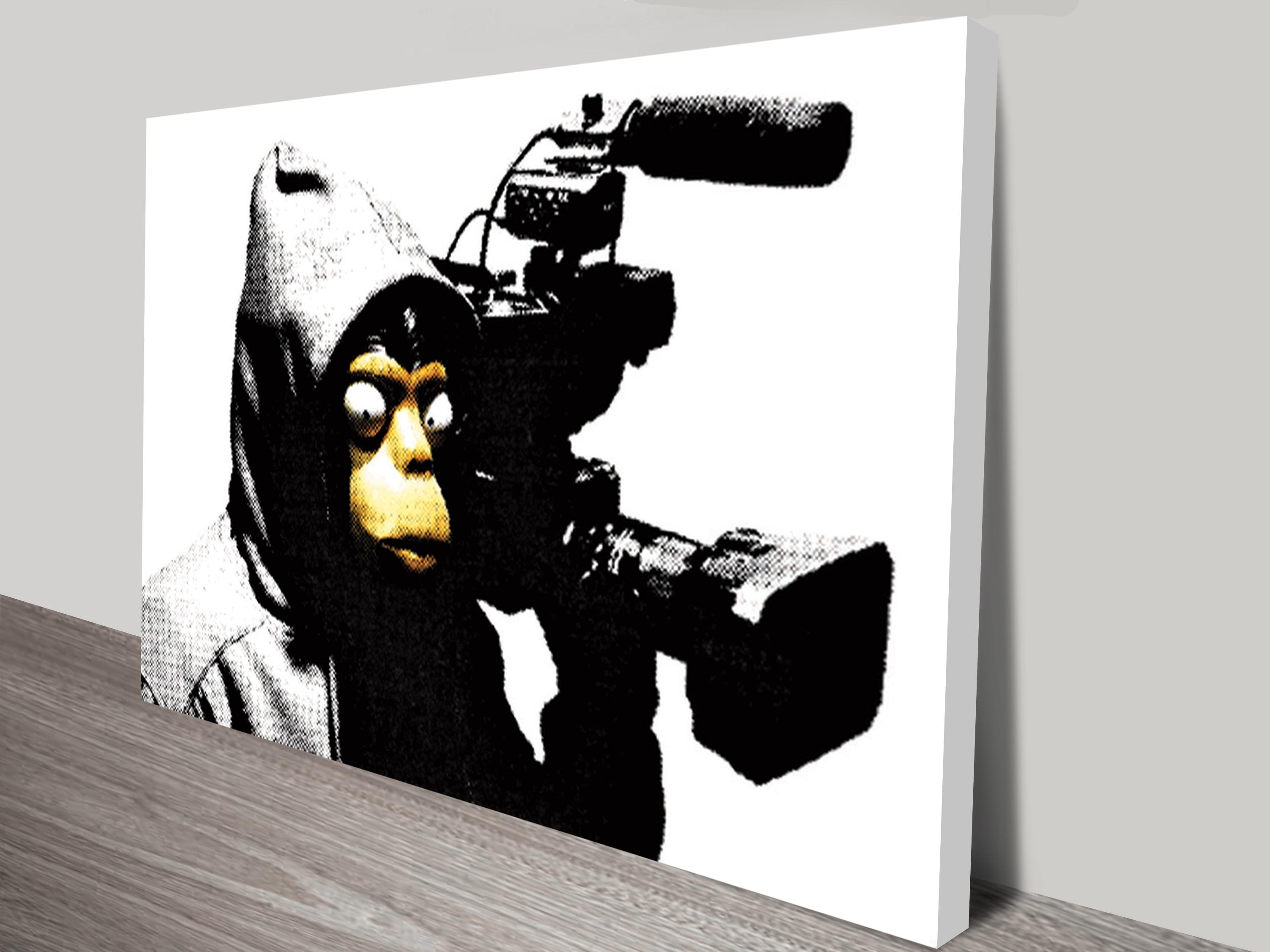 Banksy Canvas Prints | Graffiti Art – Blue Horizon Prints Throughout Banksy Canvas Wall Art (Image 11 of 20)