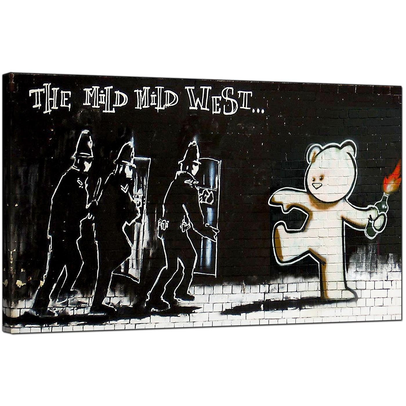 Banksy Canvas Prints – Mild Mild West For Banksy Canvas Wall Art (Image 7 of 20)