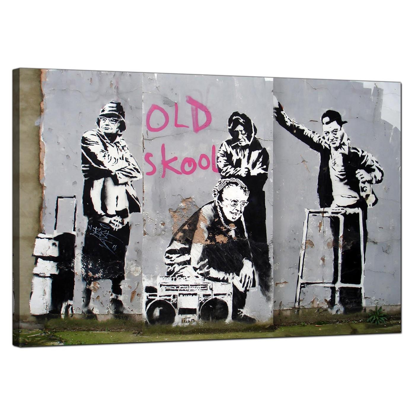 Banksy Canvas Prints – Old Skool With Banksy Canvas Wall Art (View 5 of 20)