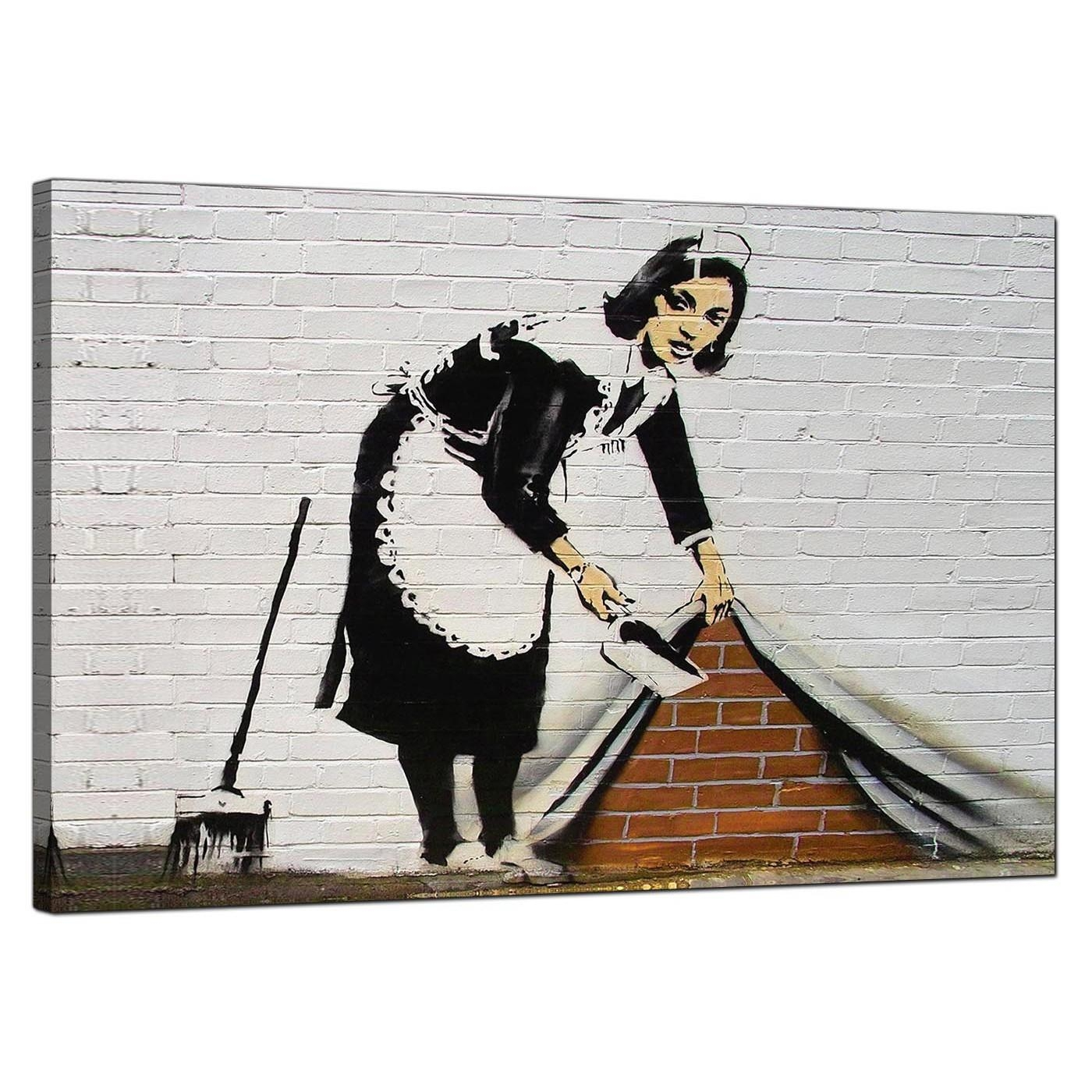 Banksy Canvas Prints – Sweeping It Under The Carpet Within Banksy Wall Art Canvas (Image 7 of 20)