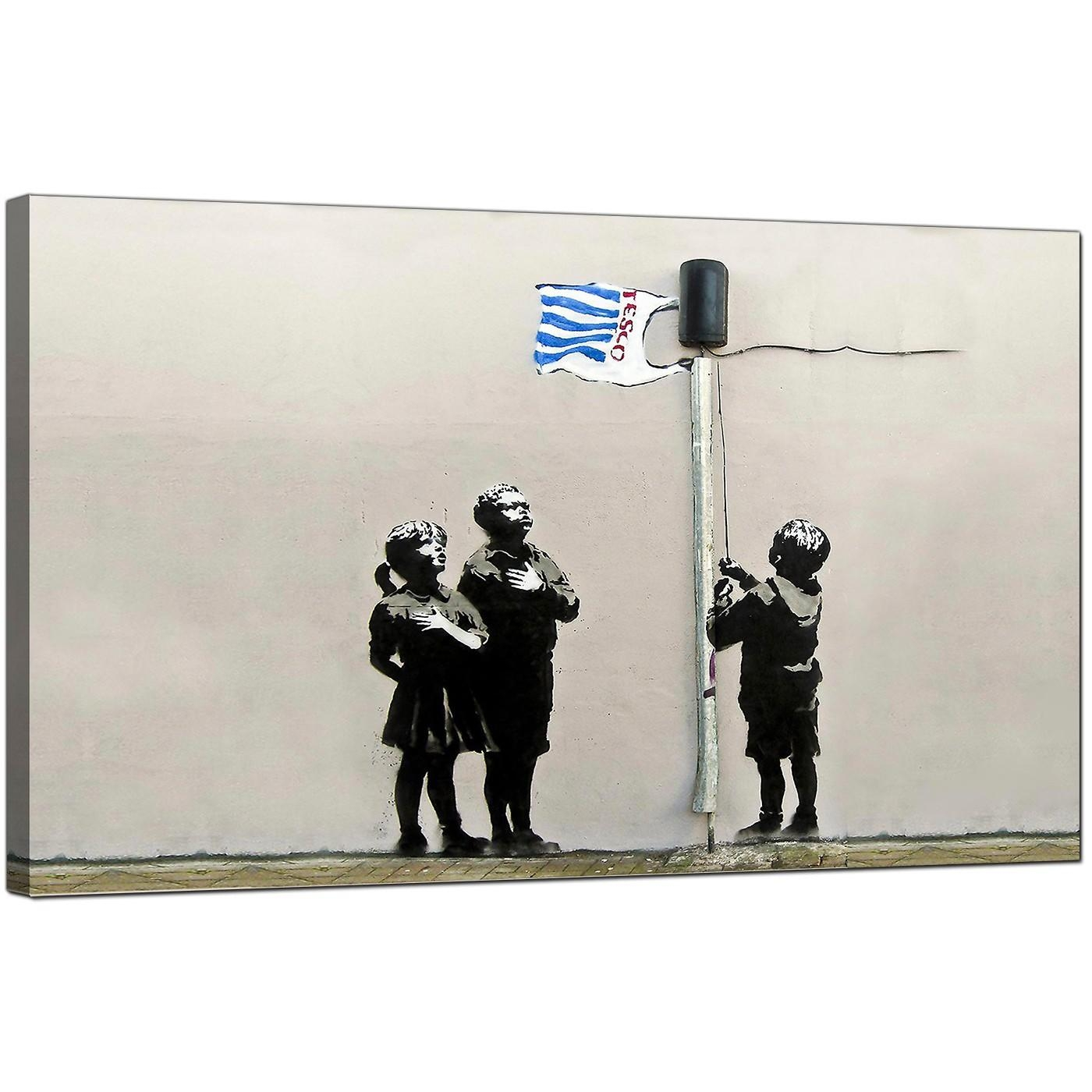 Banksy Canvas Prints – Tesco Generation Intended For Banksy Canvas Wall Art (View 12 of 20)
