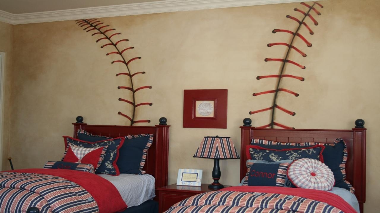 Baseball Player Wallpaper Themed Bedroom Furniture Best Ideas Inside Vintage Baseball Wall Art (View 19 of 20)