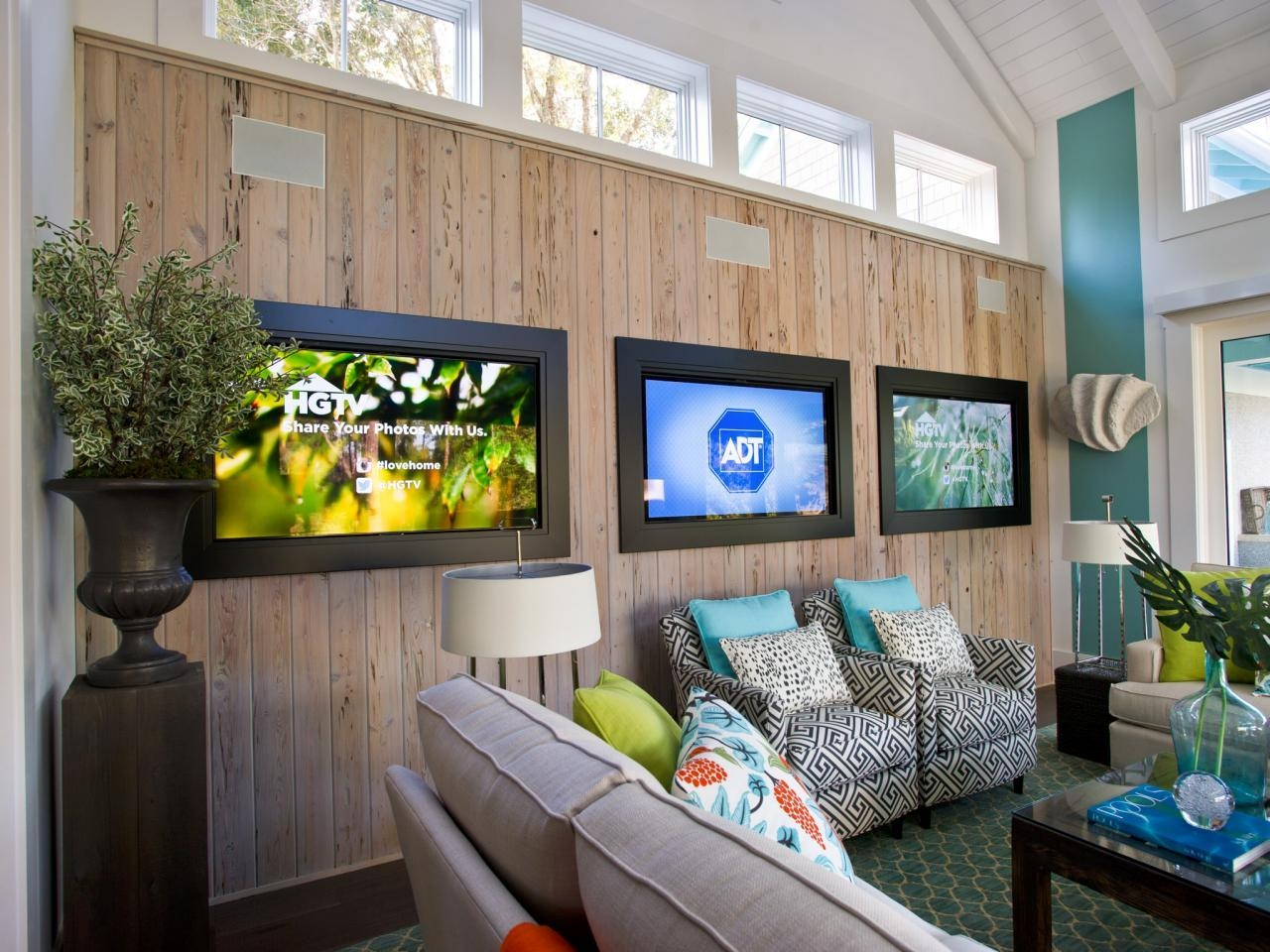 Basement Home Theaters And Media Rooms: Pictures, Tips & Ideas | Hgtv Within Media Room Wall Art (Image 1 of 20)