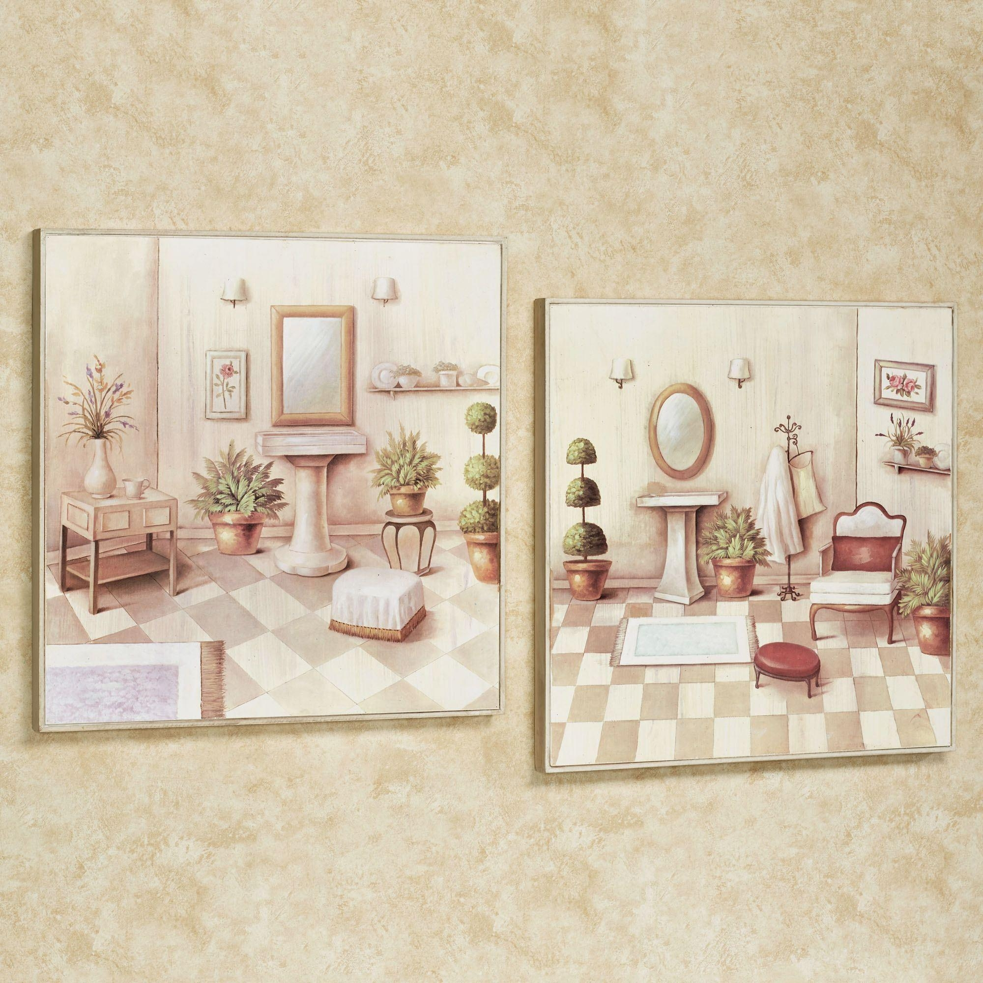 Bath Wall Accents | Touch Of Class Throughout Bath Wall Art (Image 1 of 20)