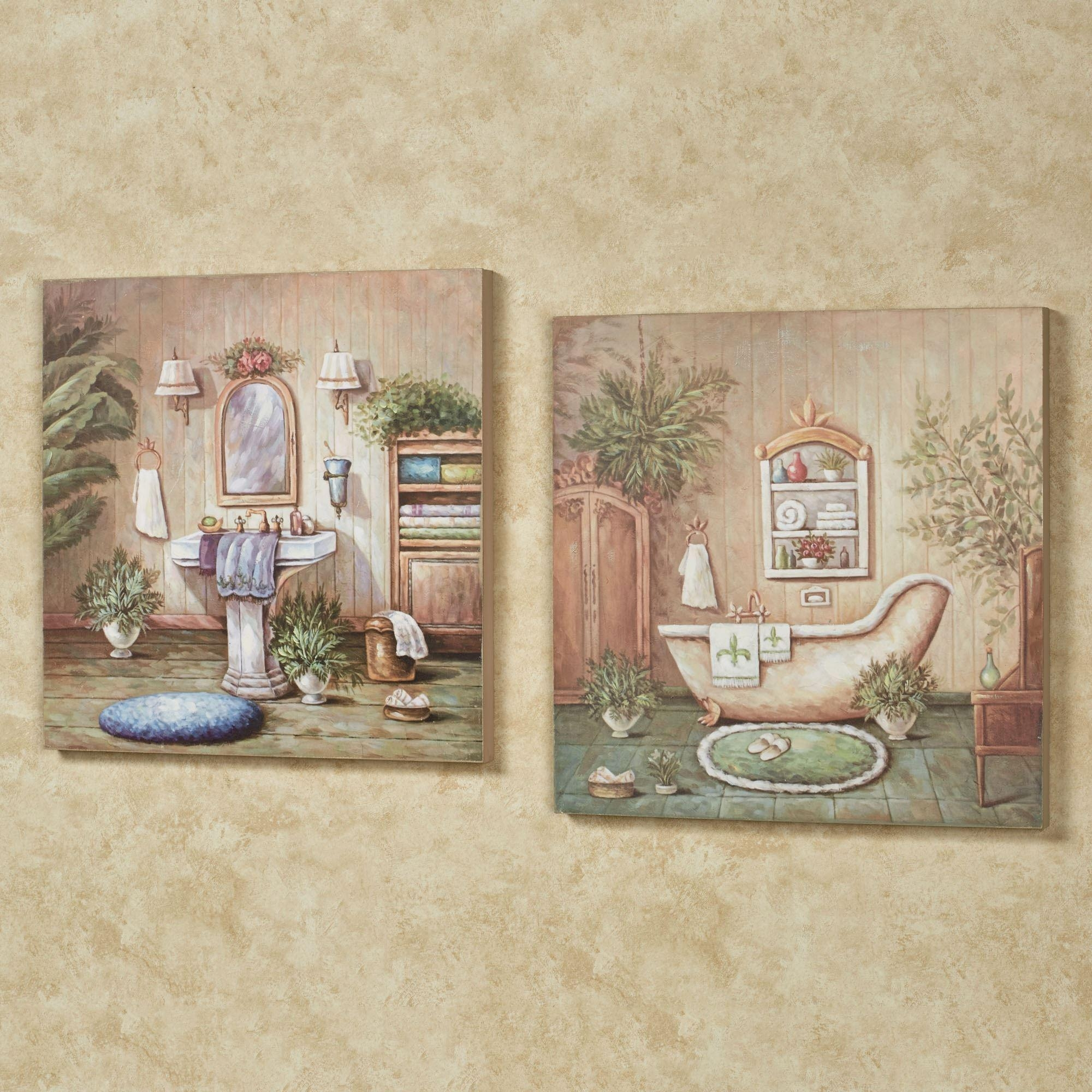 Bath Wall Accents | Touch Of Class Within Bath Wall Art (Image 2 of 20)