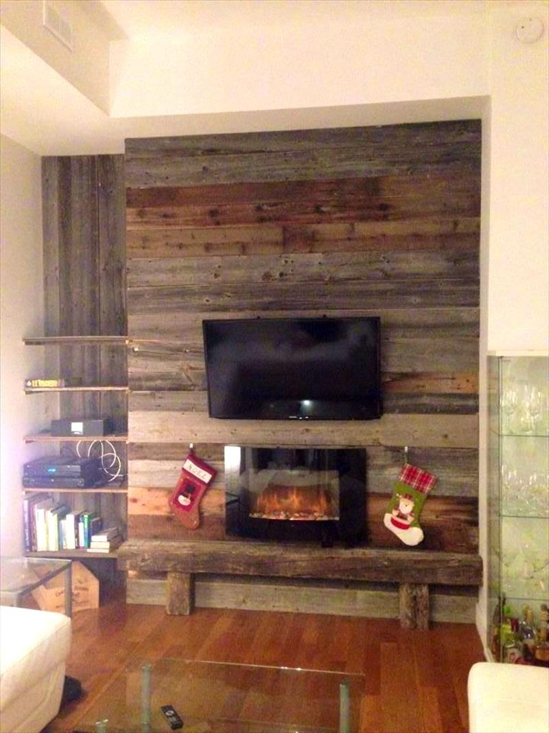 Bathroom : Astonishing Diy Wood Pallet Wall Ideas And Paneling With Media Room Wall Art (Image 2 of 20)