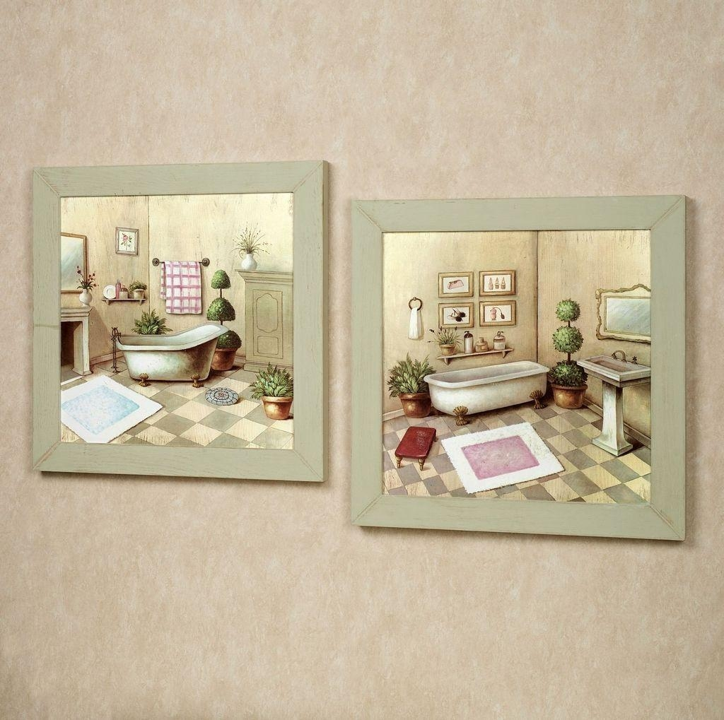 Bathroom: Dont Forget To Flush Advice Bathroom Wall Art In White Throughout Shower Room Wall Art (Image 8 of 20)
