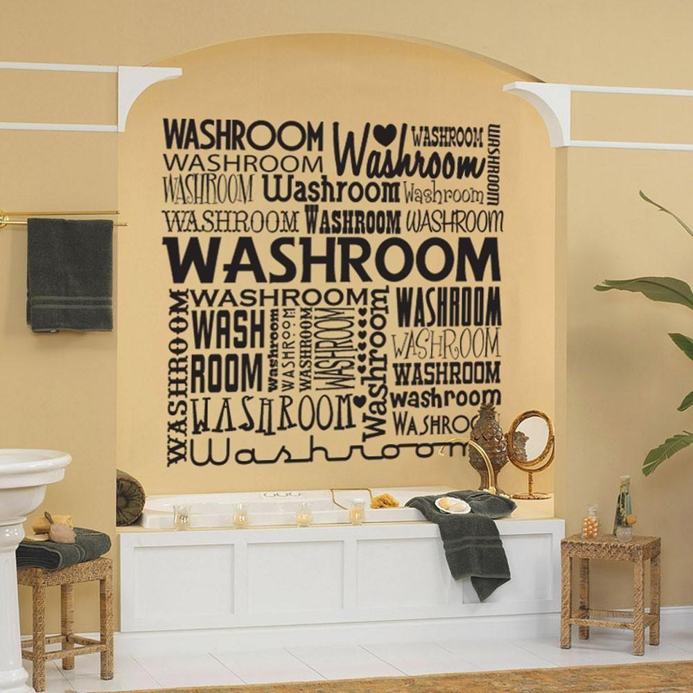 Bathroom Ideas: Bathroom Artwork Design With Black Bathroom Shelf Regarding Bathroom Wall Hangings (Image 2 of 20)