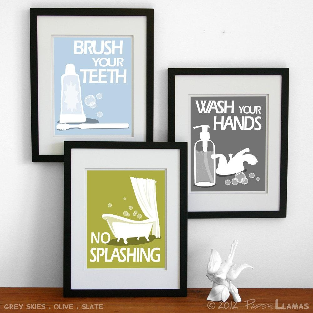 Bathroom Paint: New Perfect Bathroom Wall Art And Decor Bathroom Throughout Bathroom Wall Hangings (Image 3 of 20)