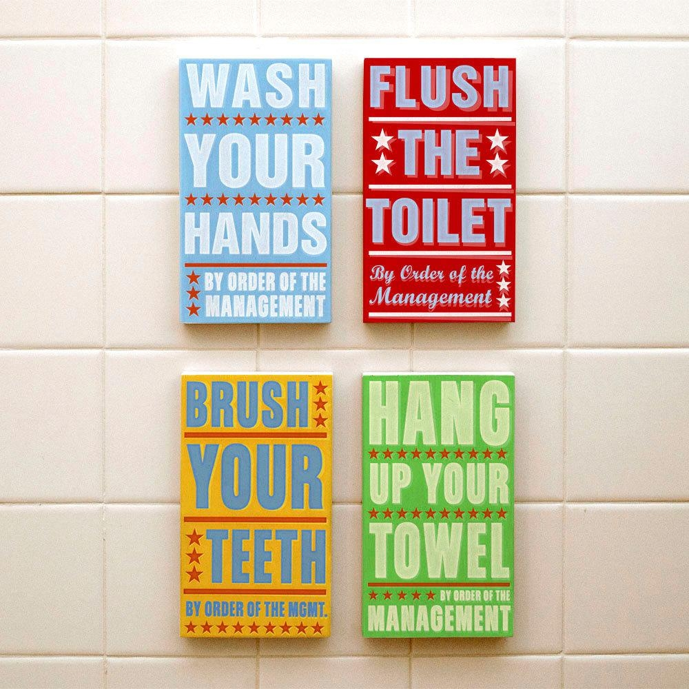 Bathroom Wall Art & Decorating Tips » Inoutinterior For Kids Bathroom Wall Art (View 8 of 20)