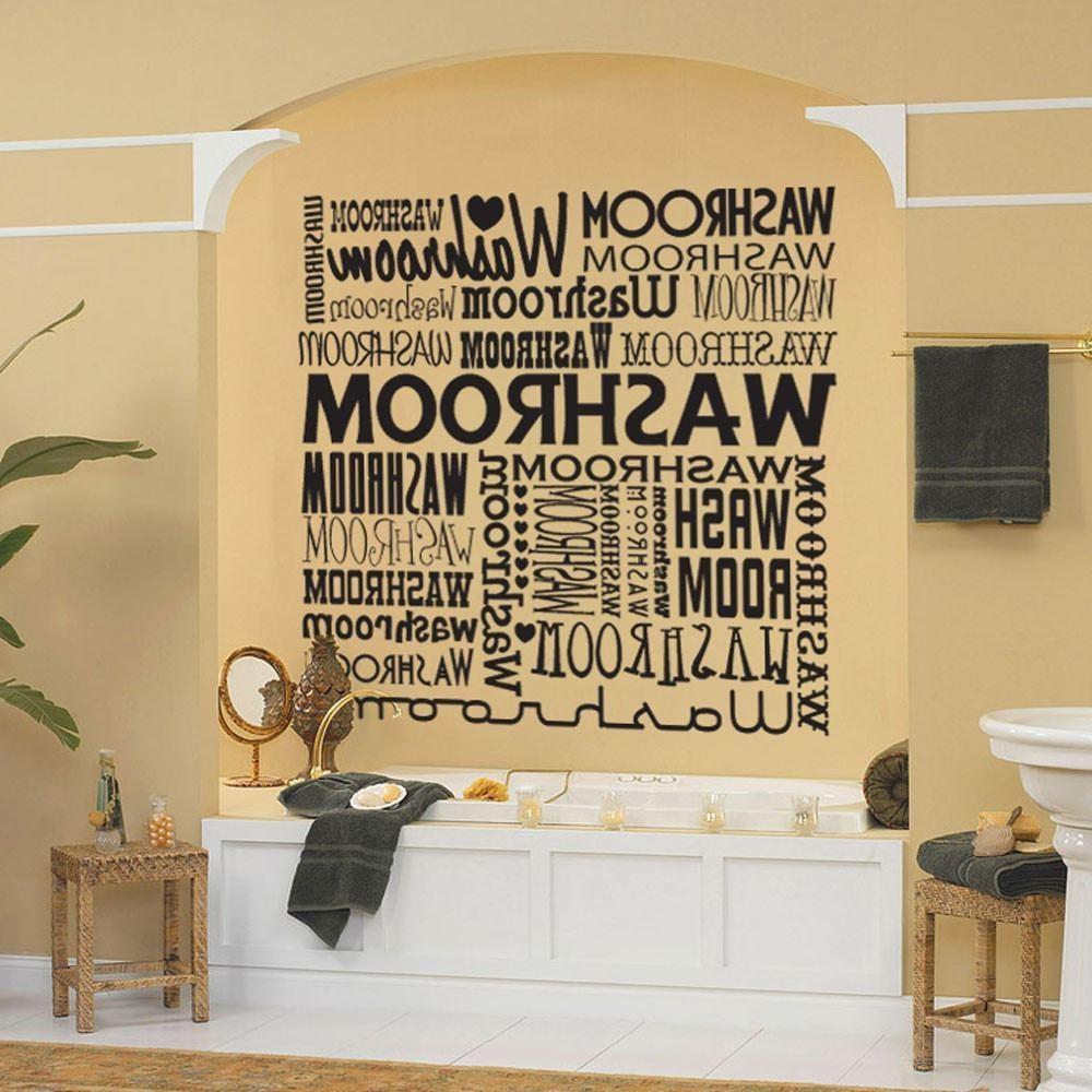 20 inspirations contemporary bathroom wall art wall art for Bathroom decor quiz