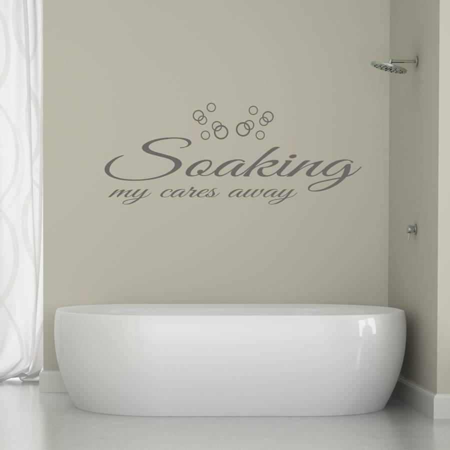 Bathroom Wall Art Quotemirrorin | Notonthehighstreet Intended For Shower Room Wall Art (View 4 of 20)