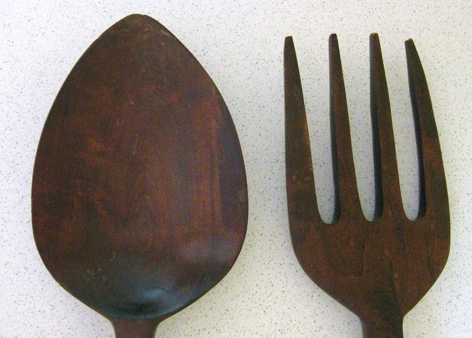 Bathroom Wall Decorations: Fork And Spoon Wall Decor Regarding Giant Fork And Spoon Wall Art (Image 2 of 20)