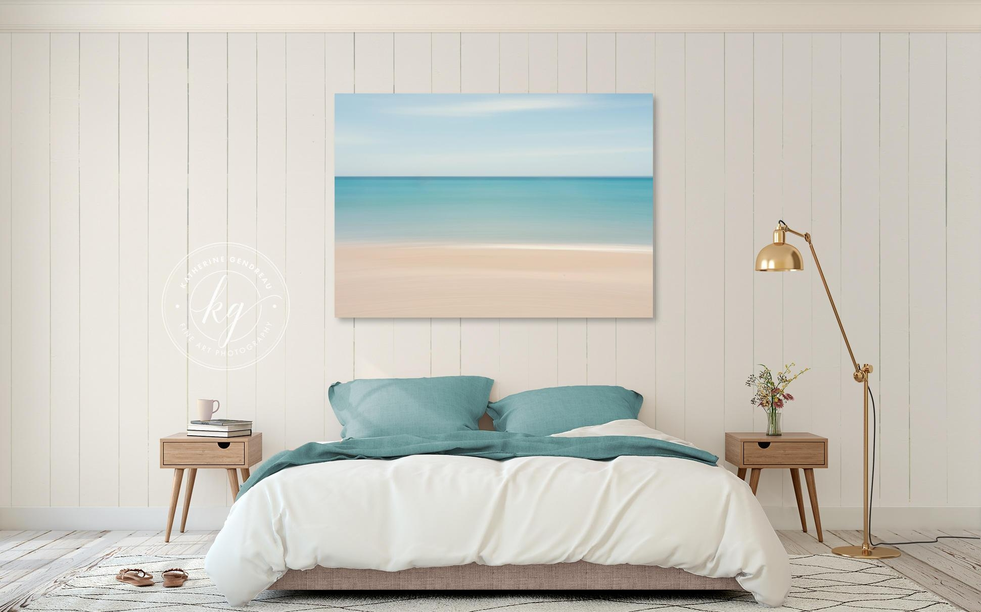 Beach Decor Canvas Gallery Wrap Abstract Ocean Photo Large Intended For Beach Wall Art For Bedroom (View 9 of 20)
