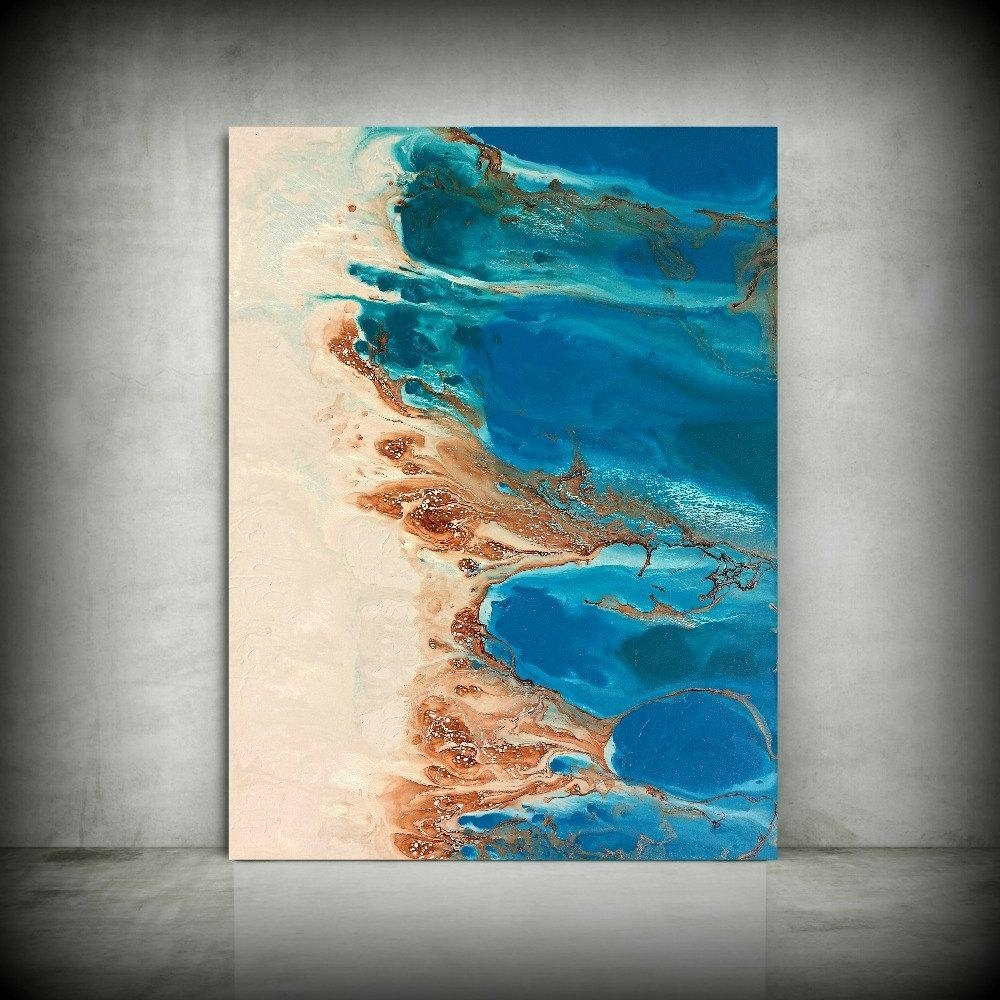 Beach Painting 30 X 40 Abstract Painting Acrylic Painting Abstract In Coastal Wall Art Canvas (Image 2 of 20)
